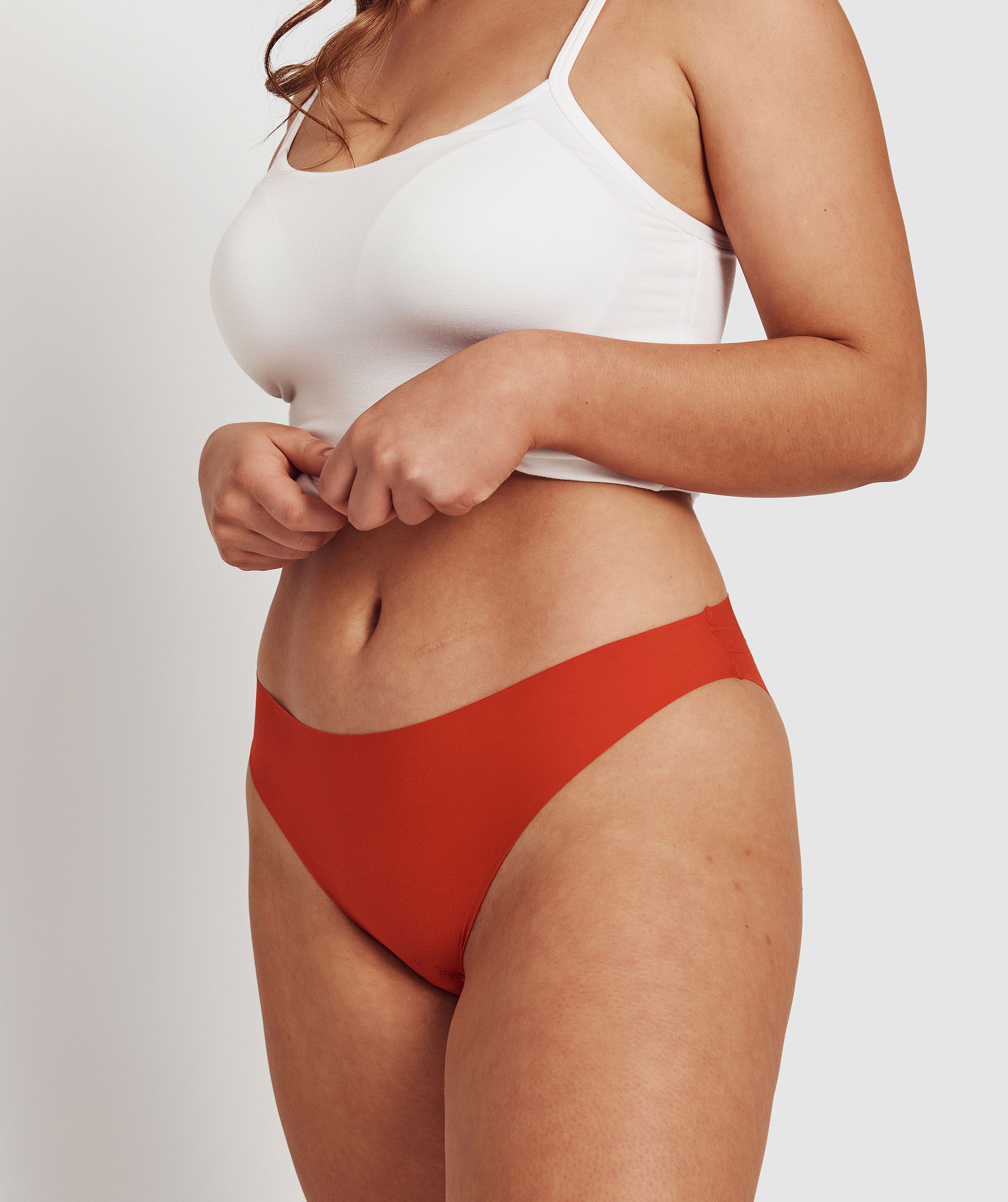 Smooth Comfort Bikini Cut Knicker -Dark Orange