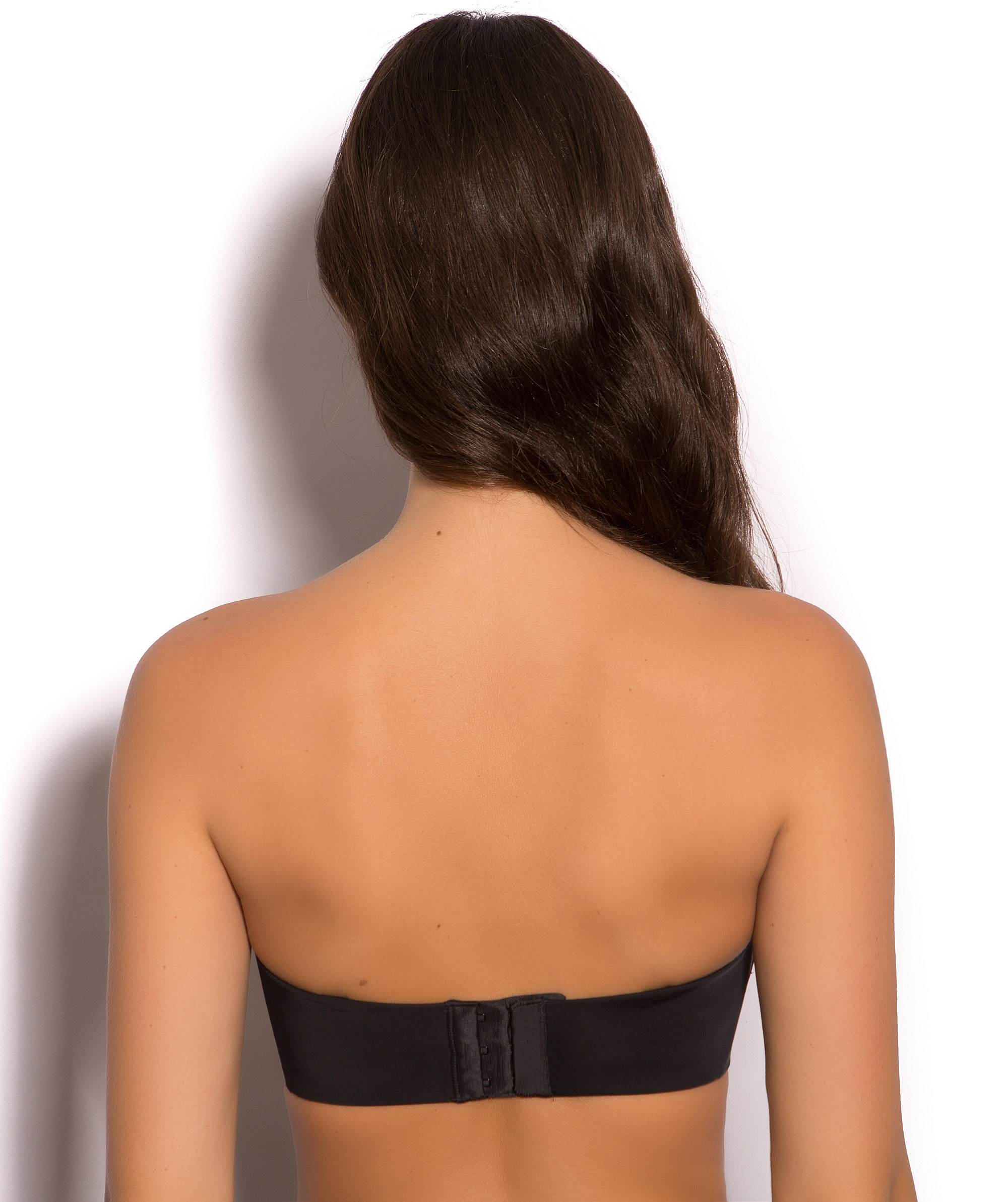 Nine To Five Silicone Free Full Cup Strapless Bra - Black