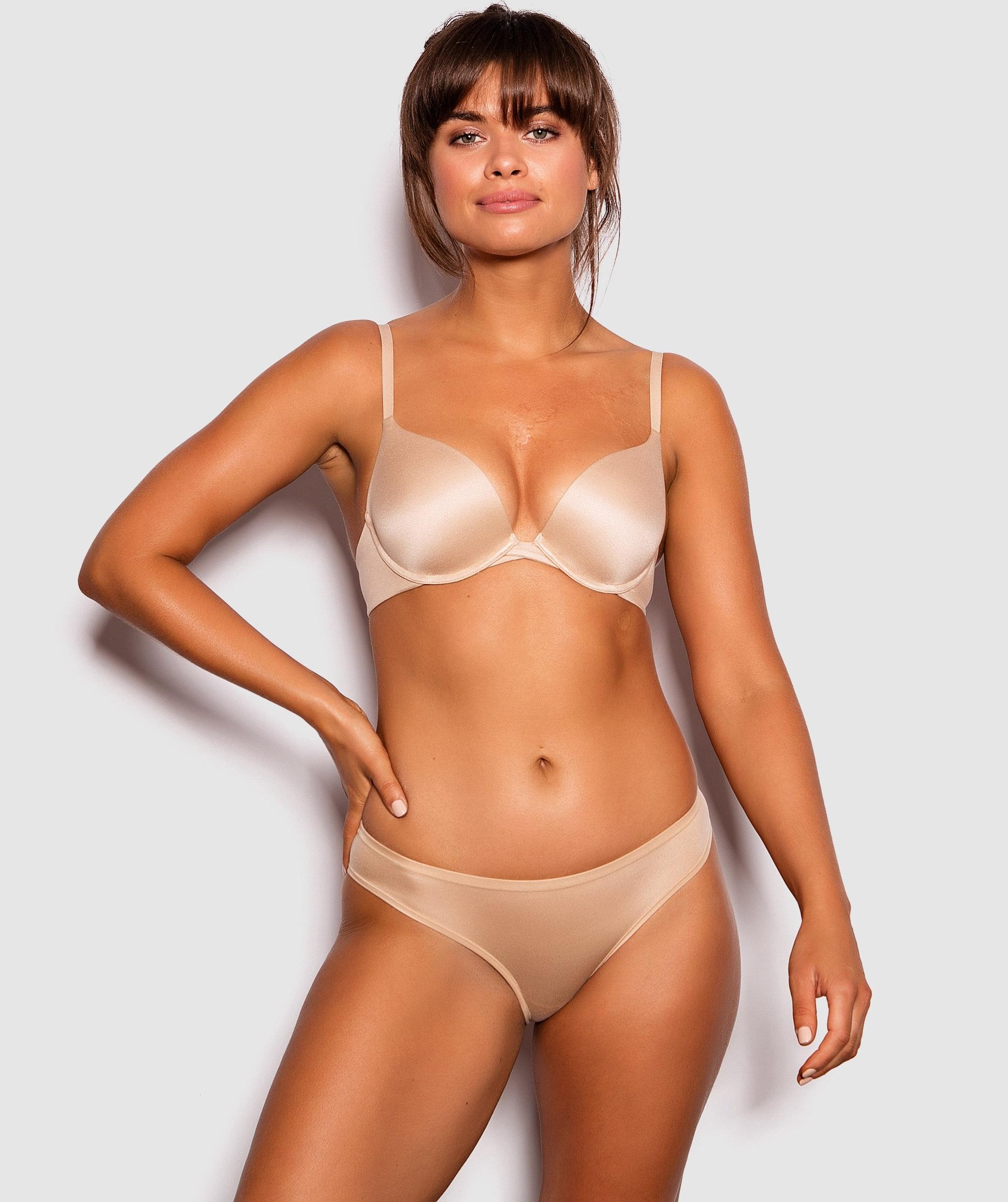 Body Bliss 2nd Gen Push Up Bra - Nude