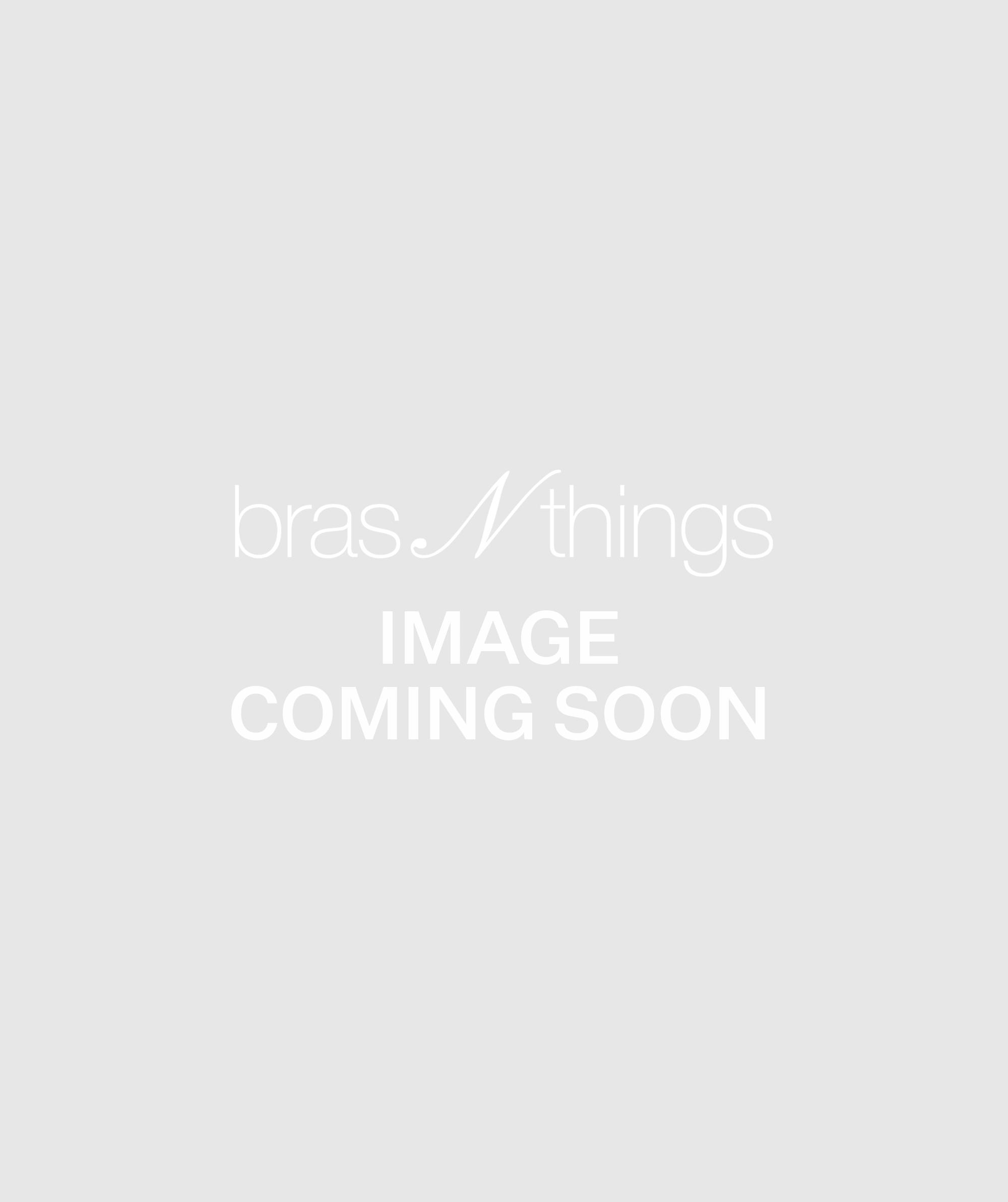 Smooth Comfort Lace V String Knicker - Black/ Black