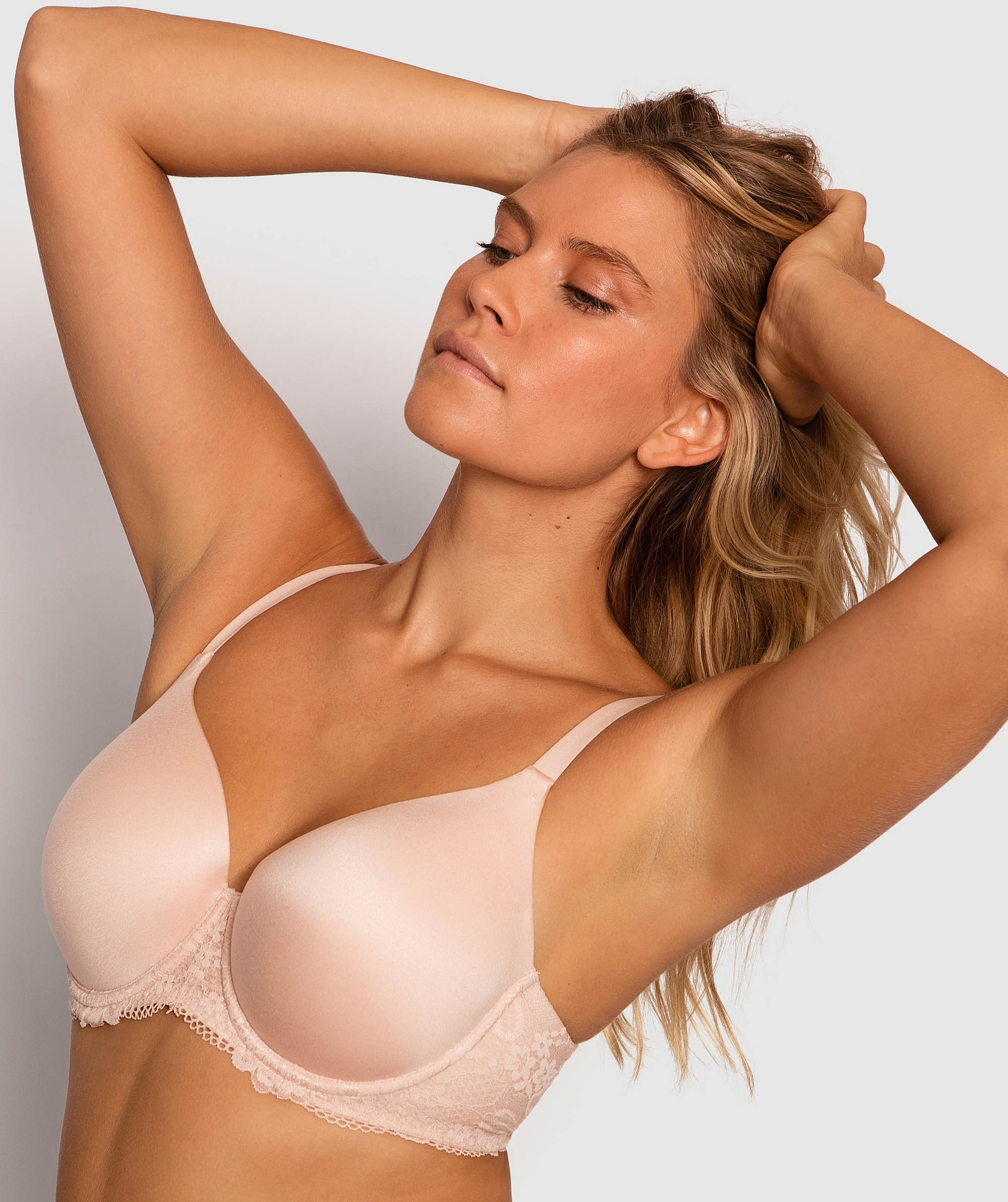 Body Bliss Lace 2nd Gen Full Cup Bra - Blush Pink