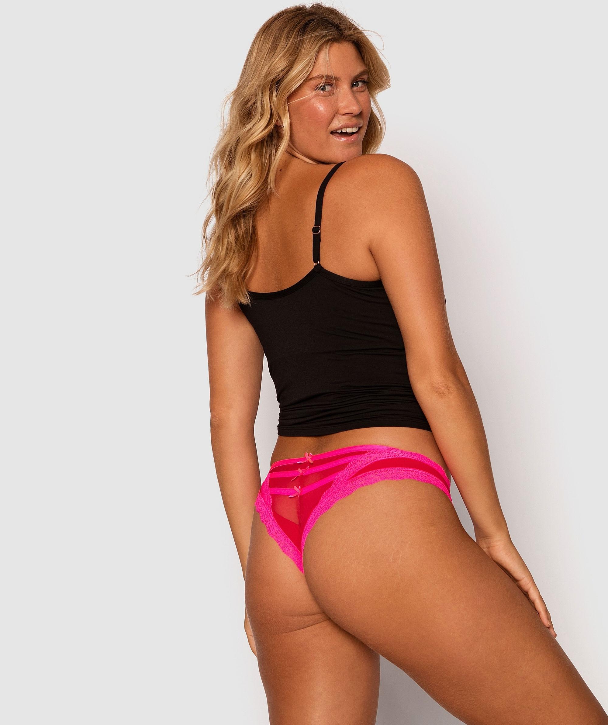 Boe Peep Brazilian Knicker - Red/Pink