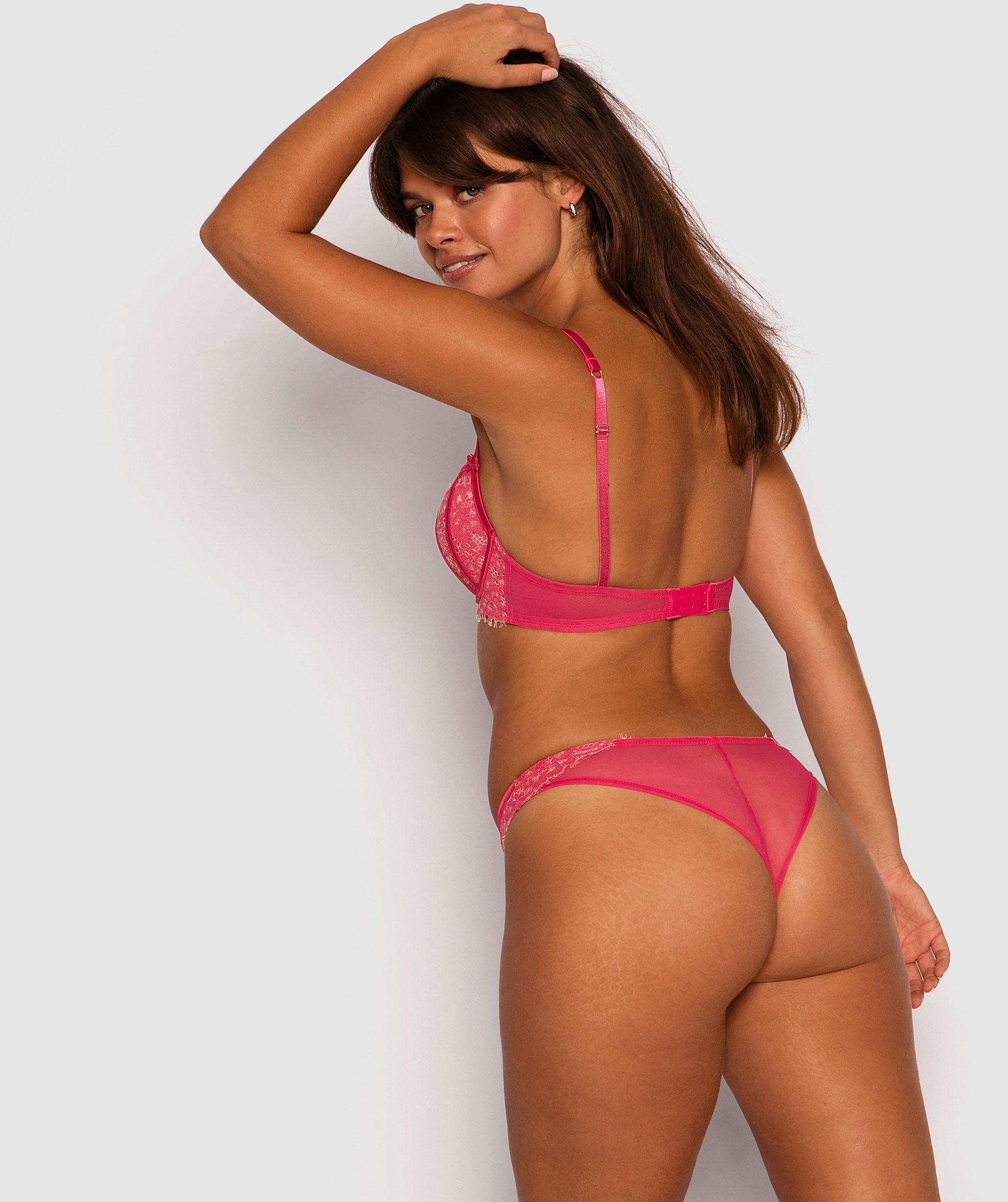 Karina Brazilian Knicker - Dark Pink/Nude