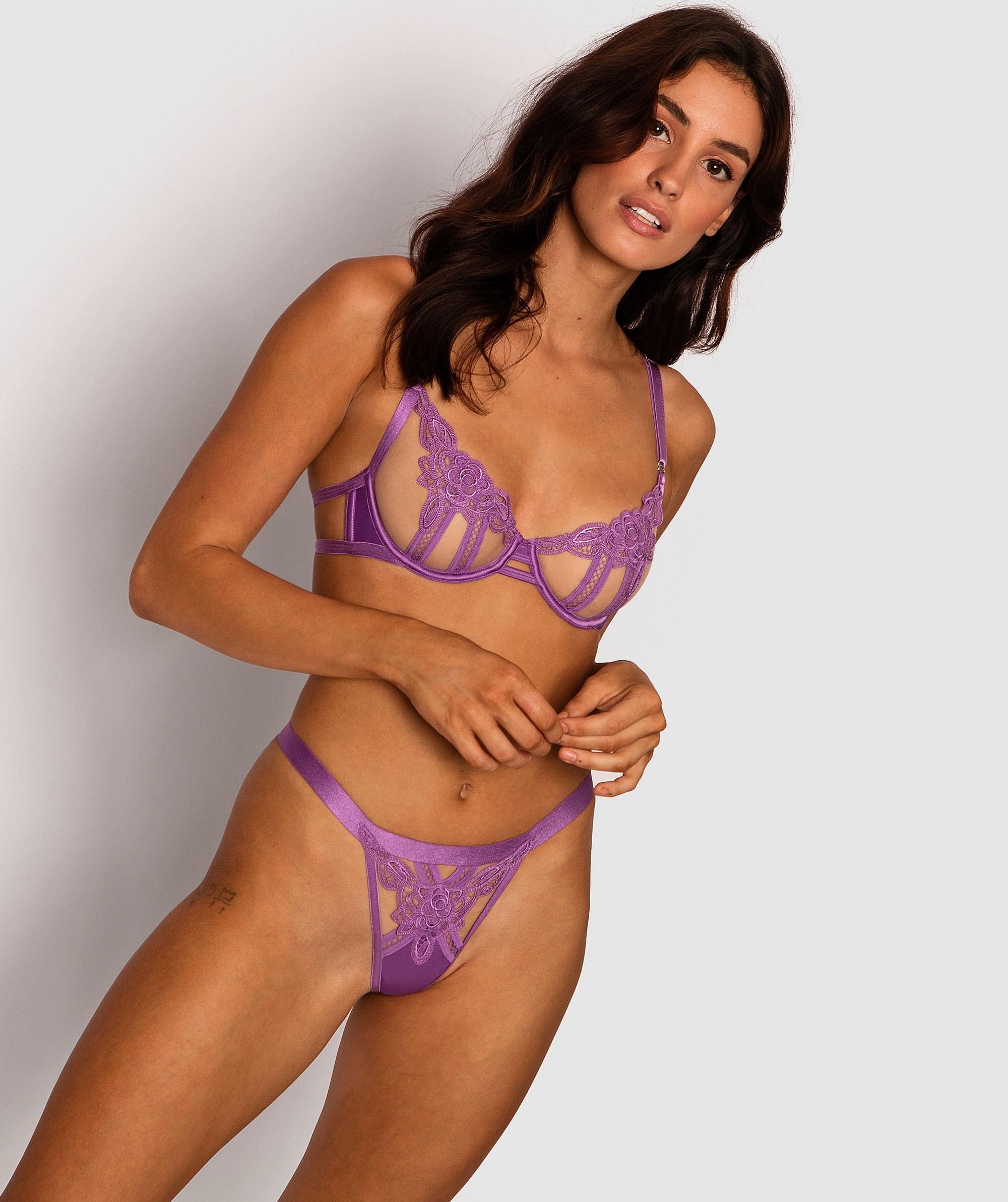 Tabitha 1/2 Cup Bra - Purple