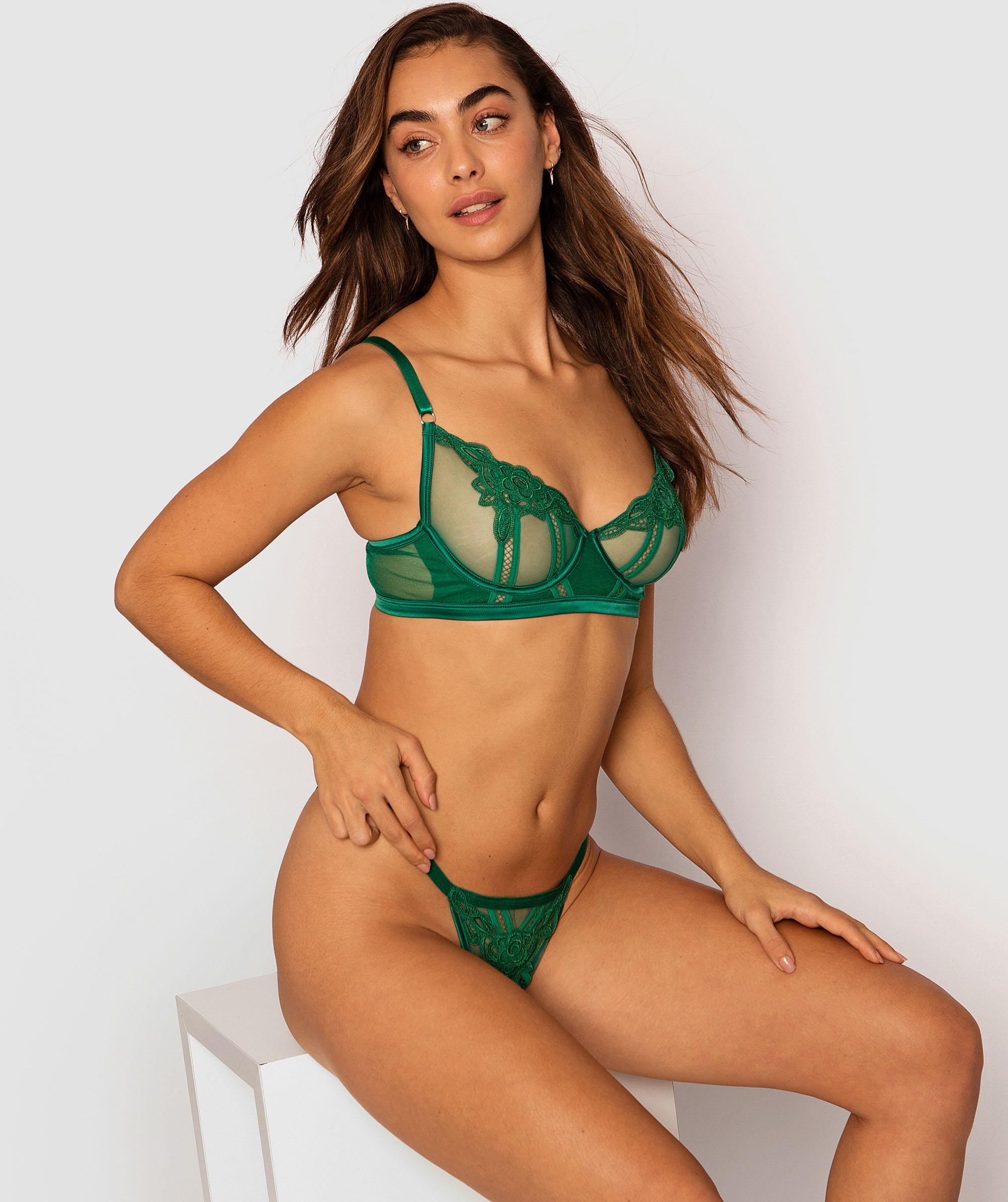 Tabitha Mini V Knicker - Green