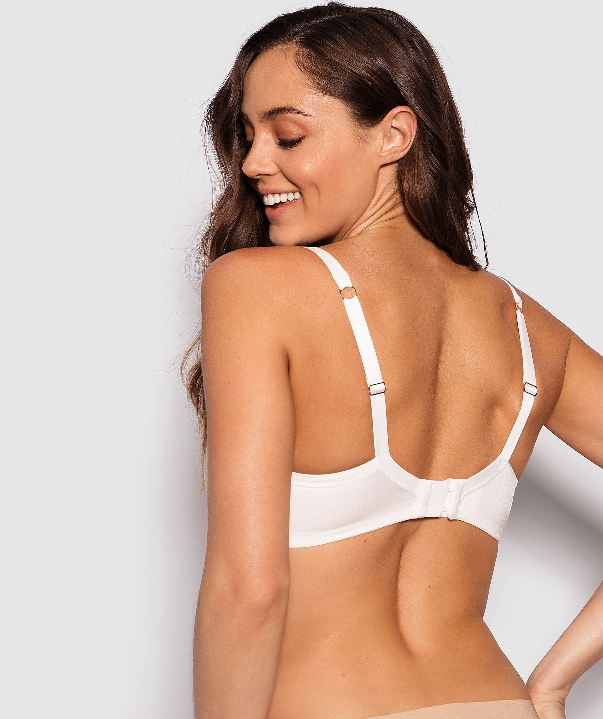 Pure Body Lace Full Cup Bra - Ivory
