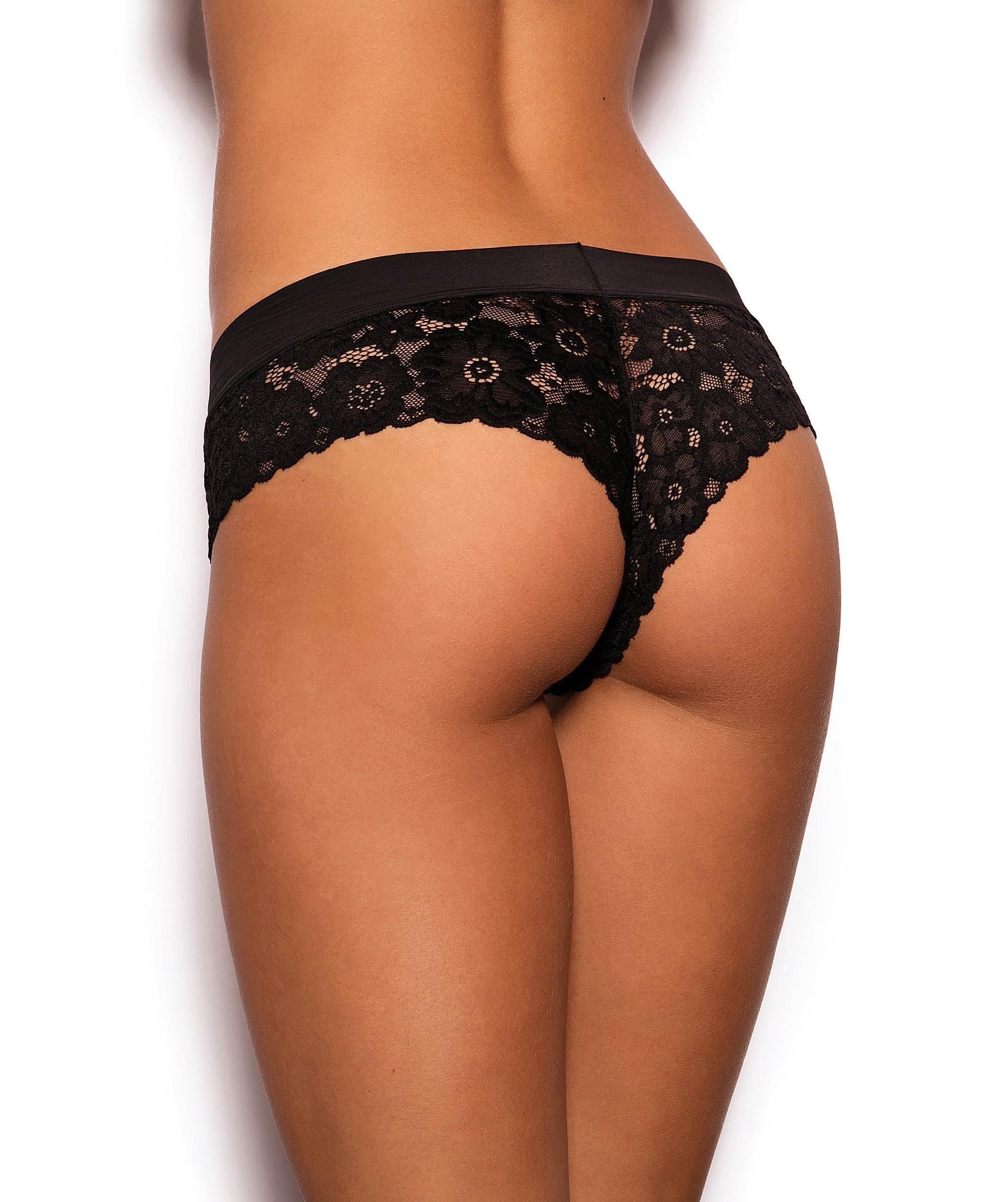 Chania Brazilian Knicker - Black