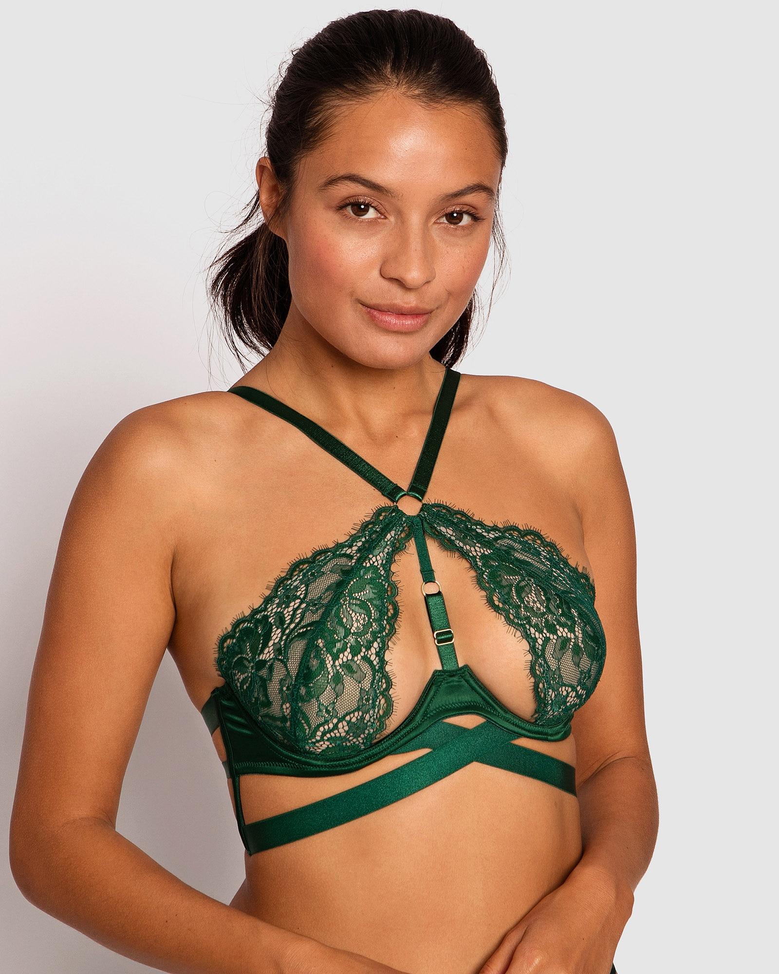 Shiloh Underwire Soft Cup Bra - Dark Green