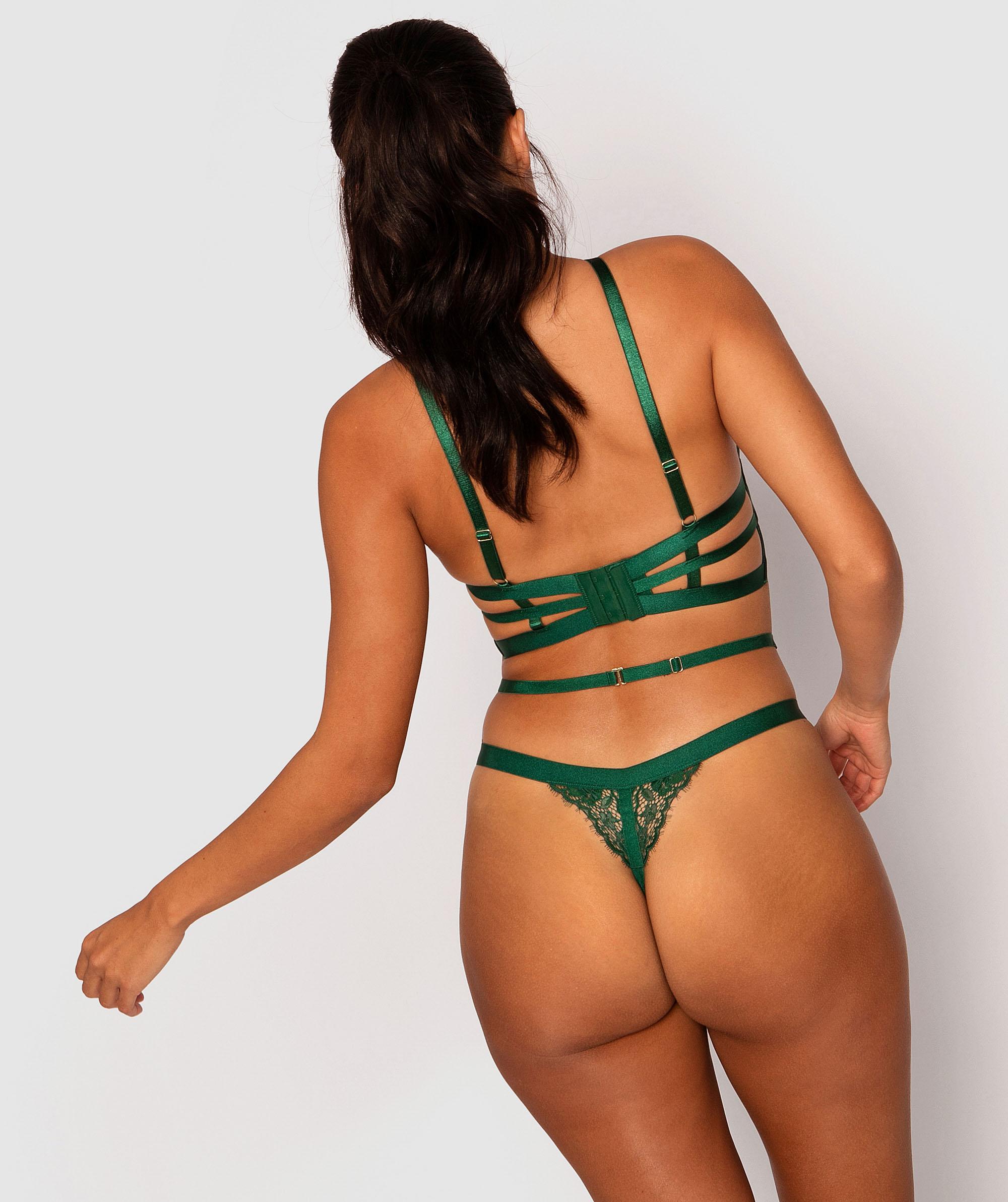 Shiloh Mini V Knicker - Dark Green