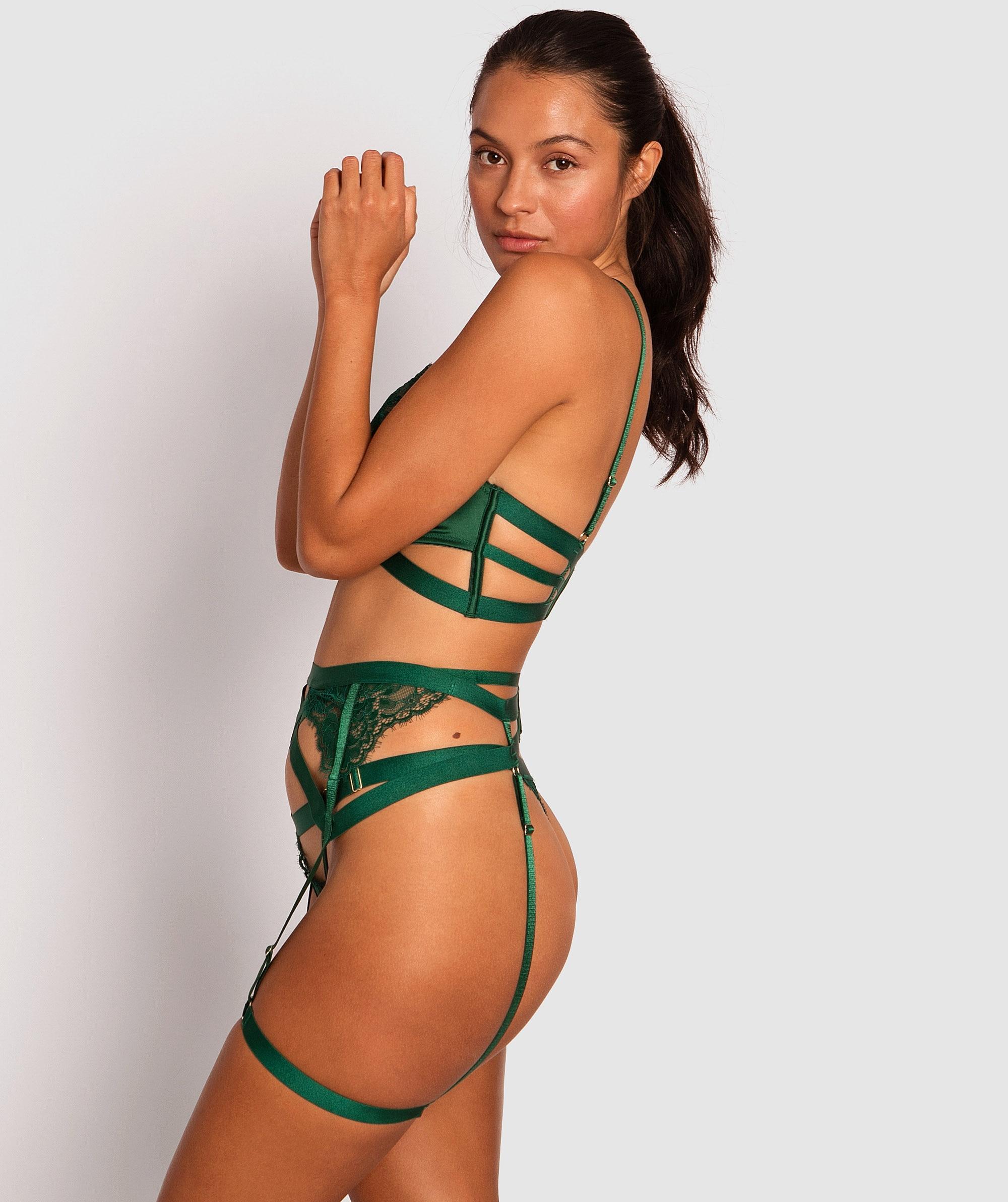 Shiloh Suspender - Dark Green