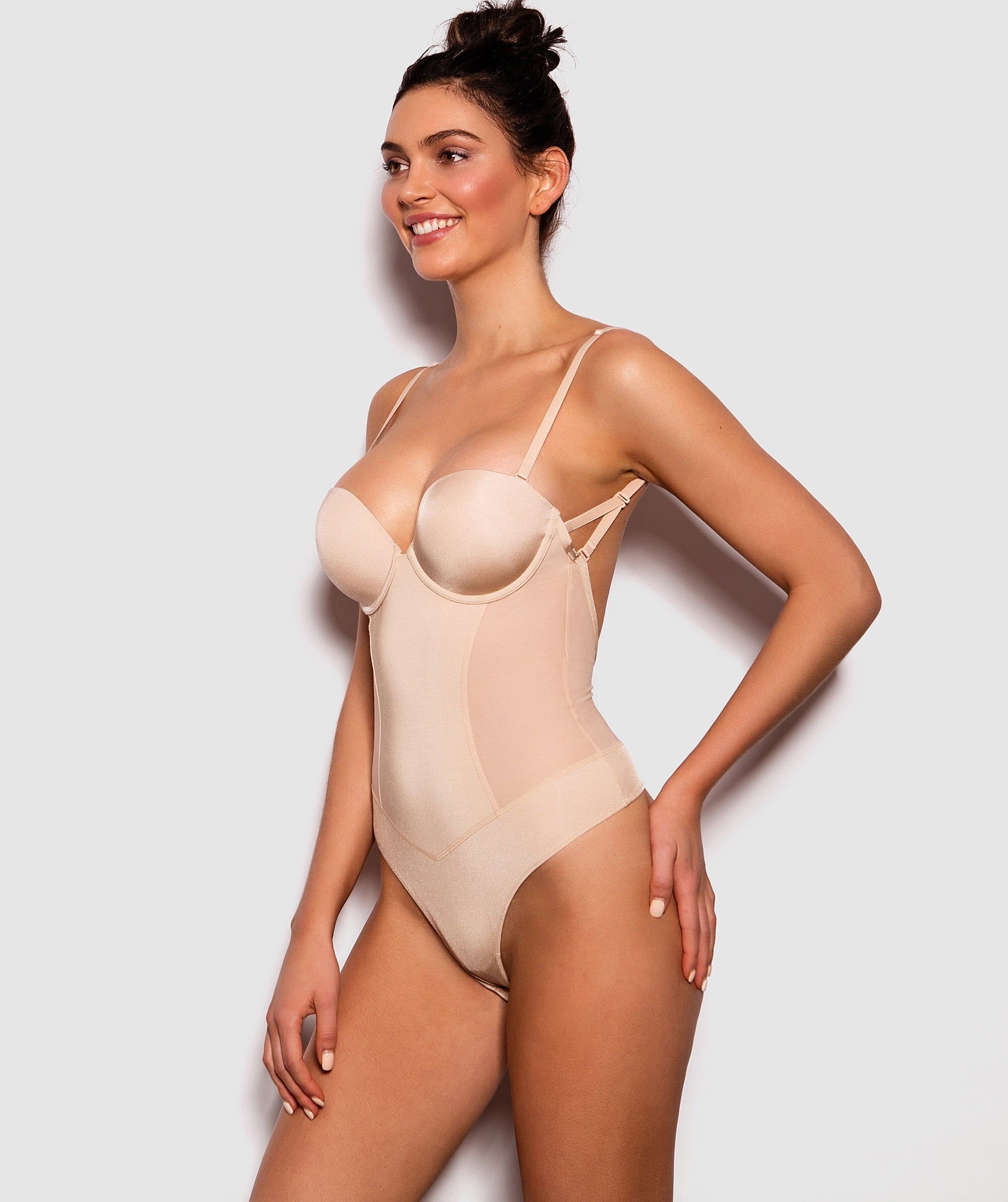 Backless Control Bodysuit - Nude