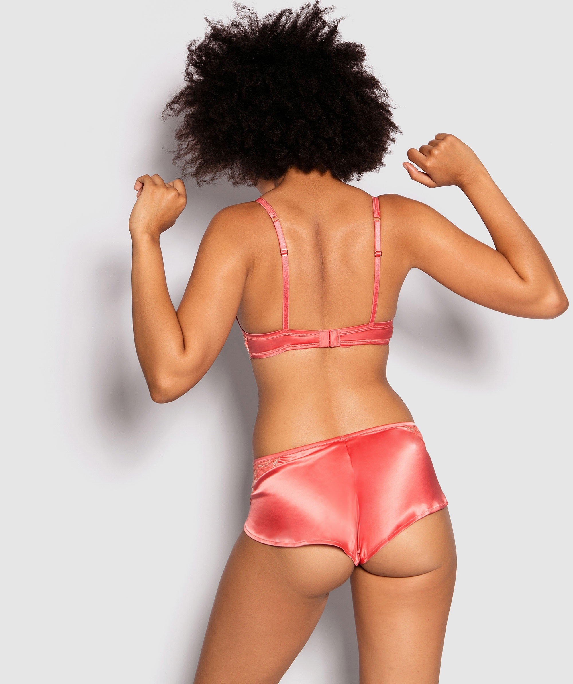 Enchanted Pearl French Knicker - Rust/Pink