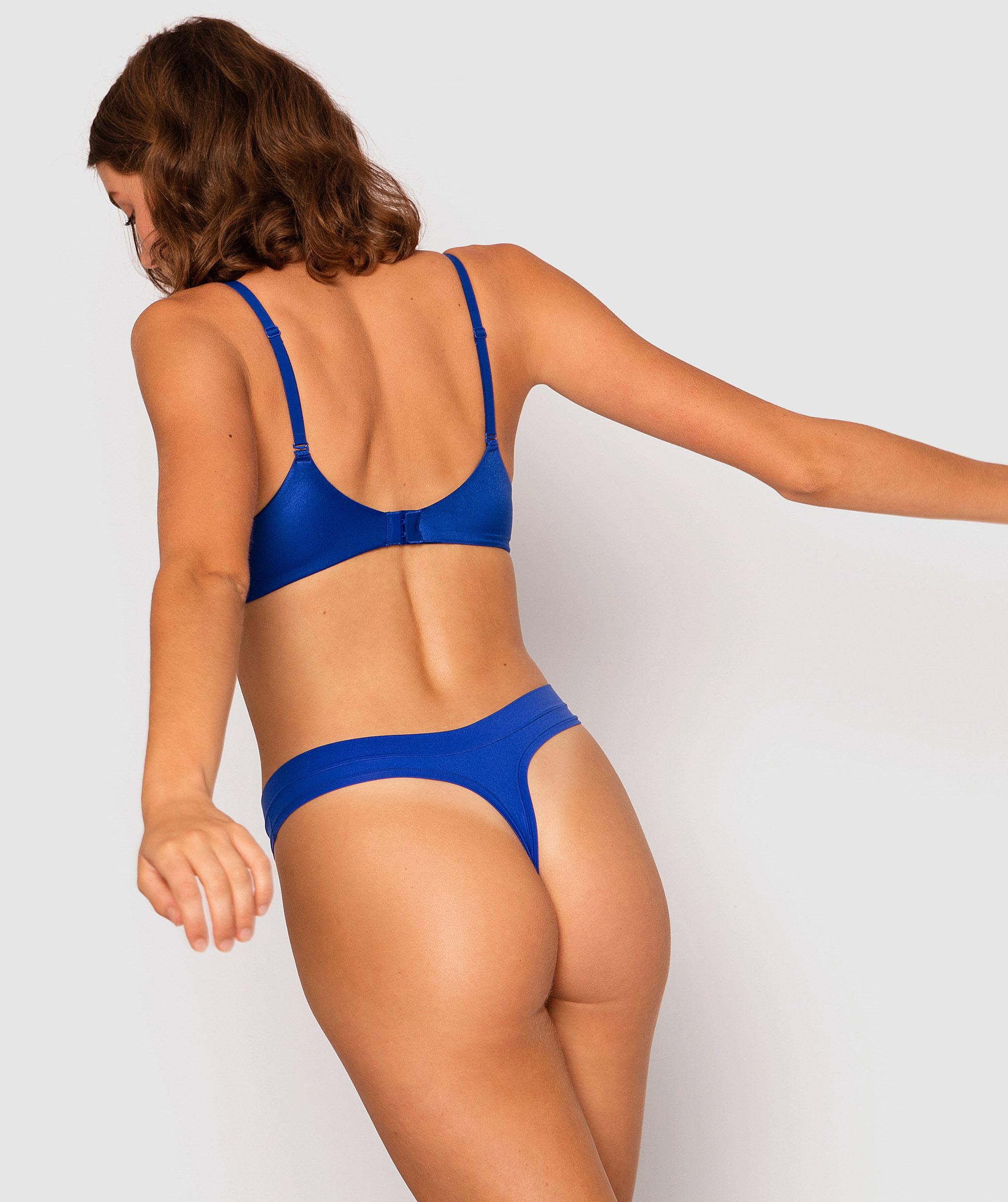 Body Bliss 2nd Gen V-String Knicker - Dark Blue