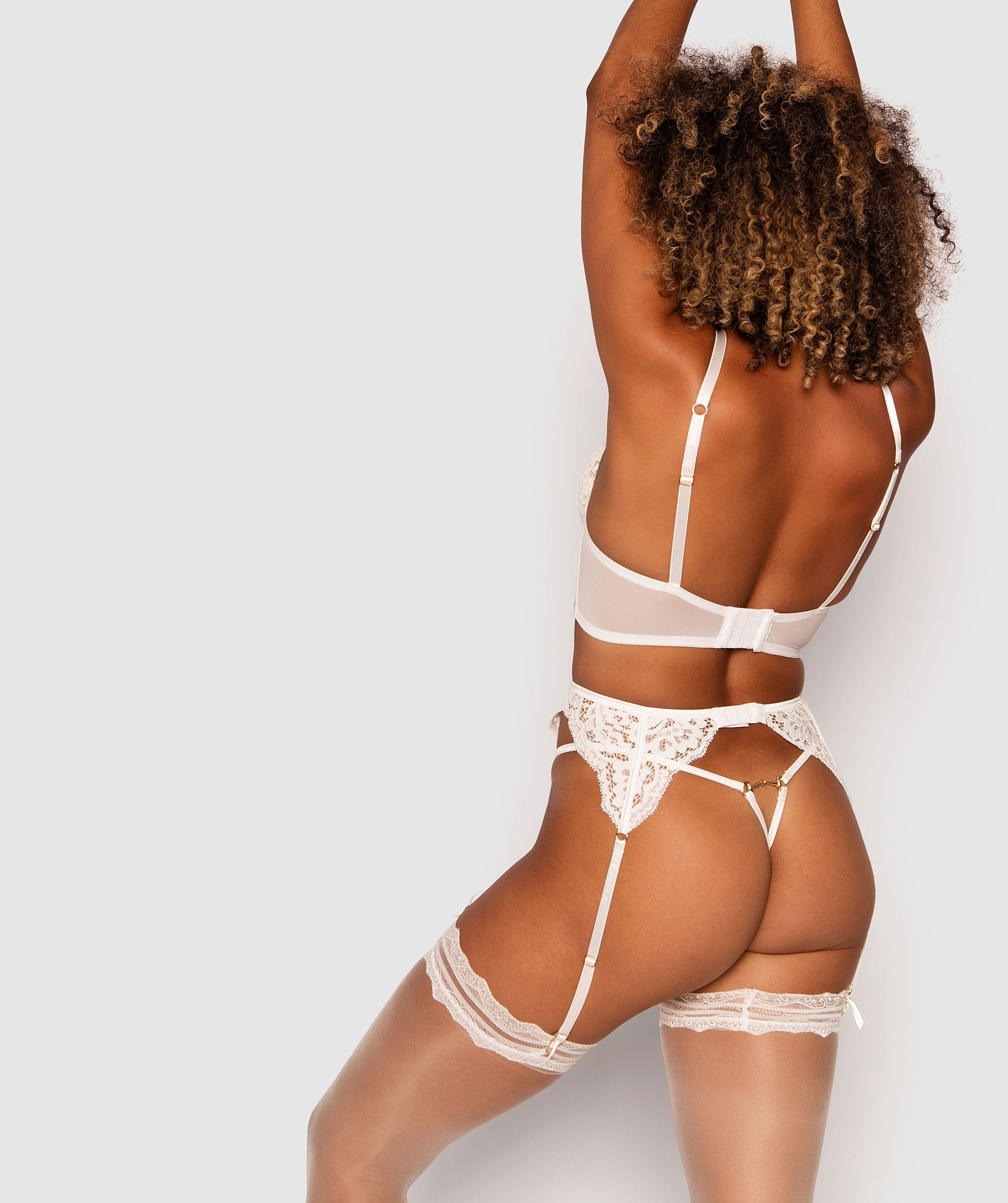 Vamp Muse Suspender - White