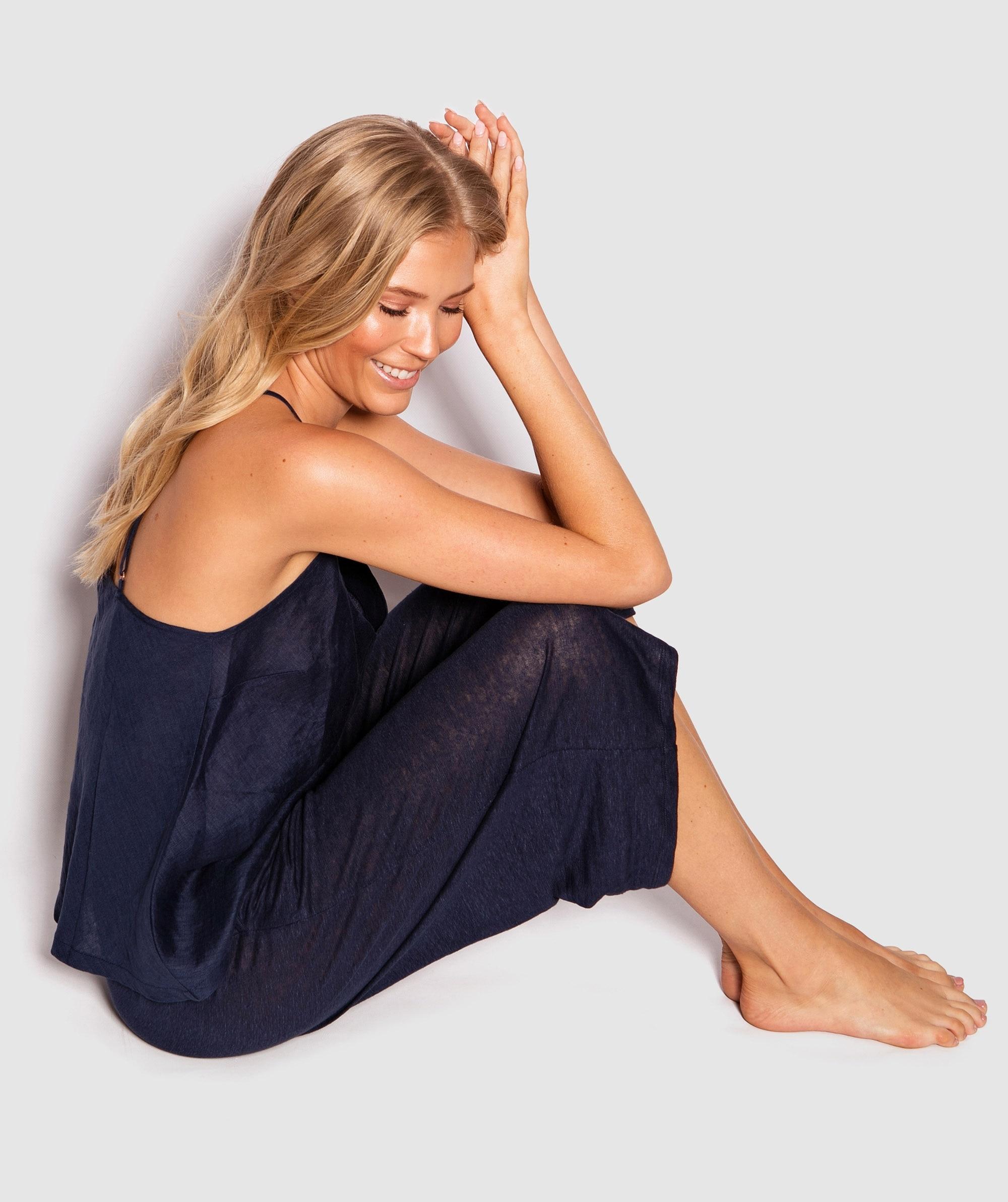 Premium Linen Cami - Dark Blue