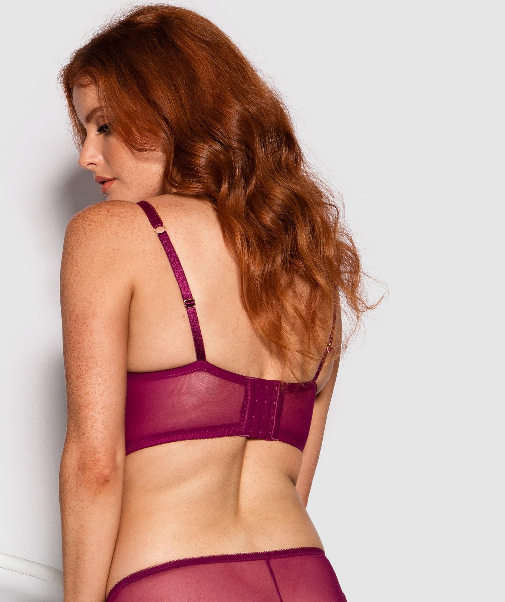 Lia Balconette Full Cup Bra - Dark Purple
