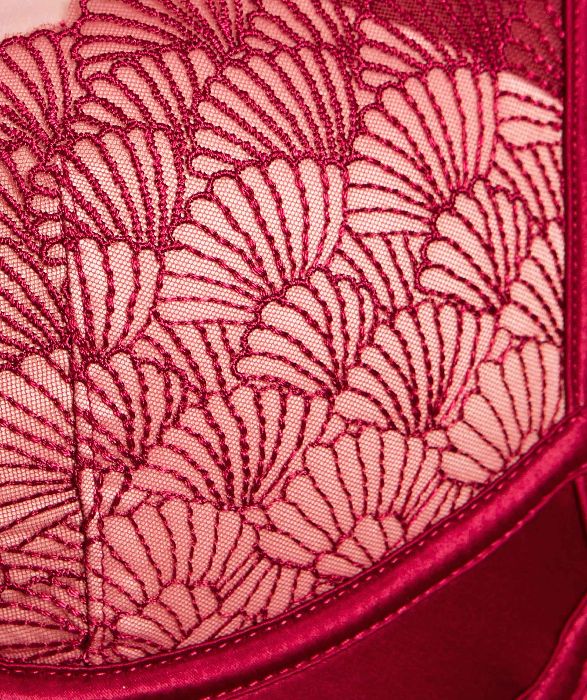 Enchanted Delta Push Up Bra - Red/Light Pink