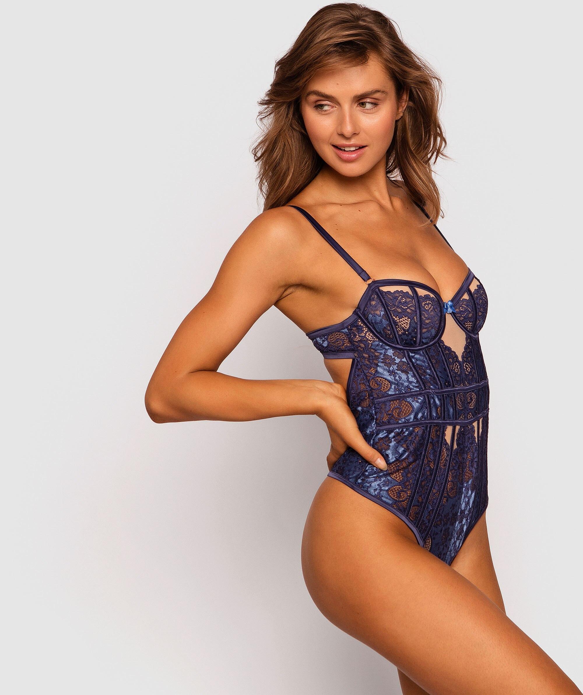 Enchanted Veronica Bodysuit - Navy/Blue