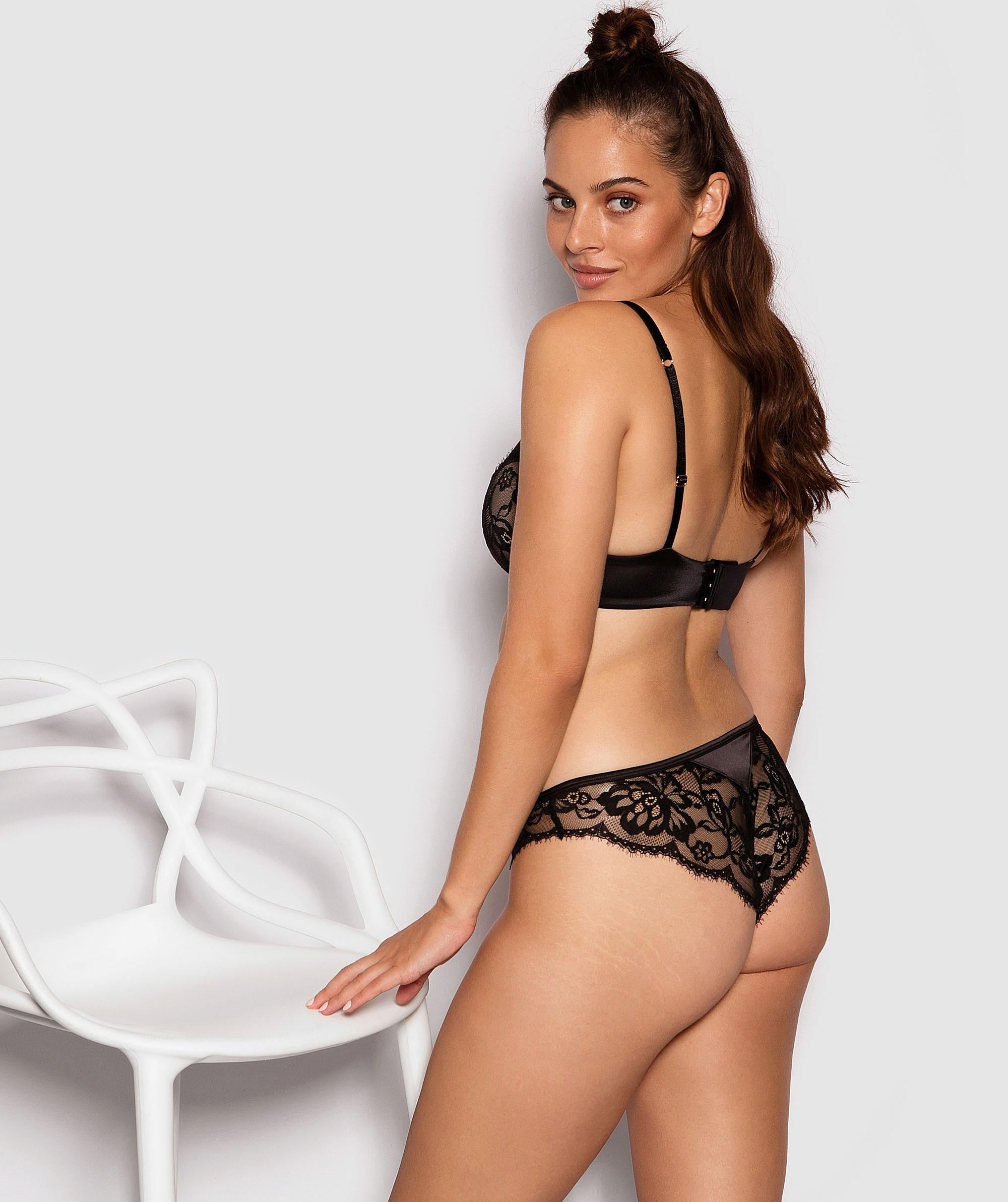 Fashion X Comfort Brazilian Knicker - Black/Nude