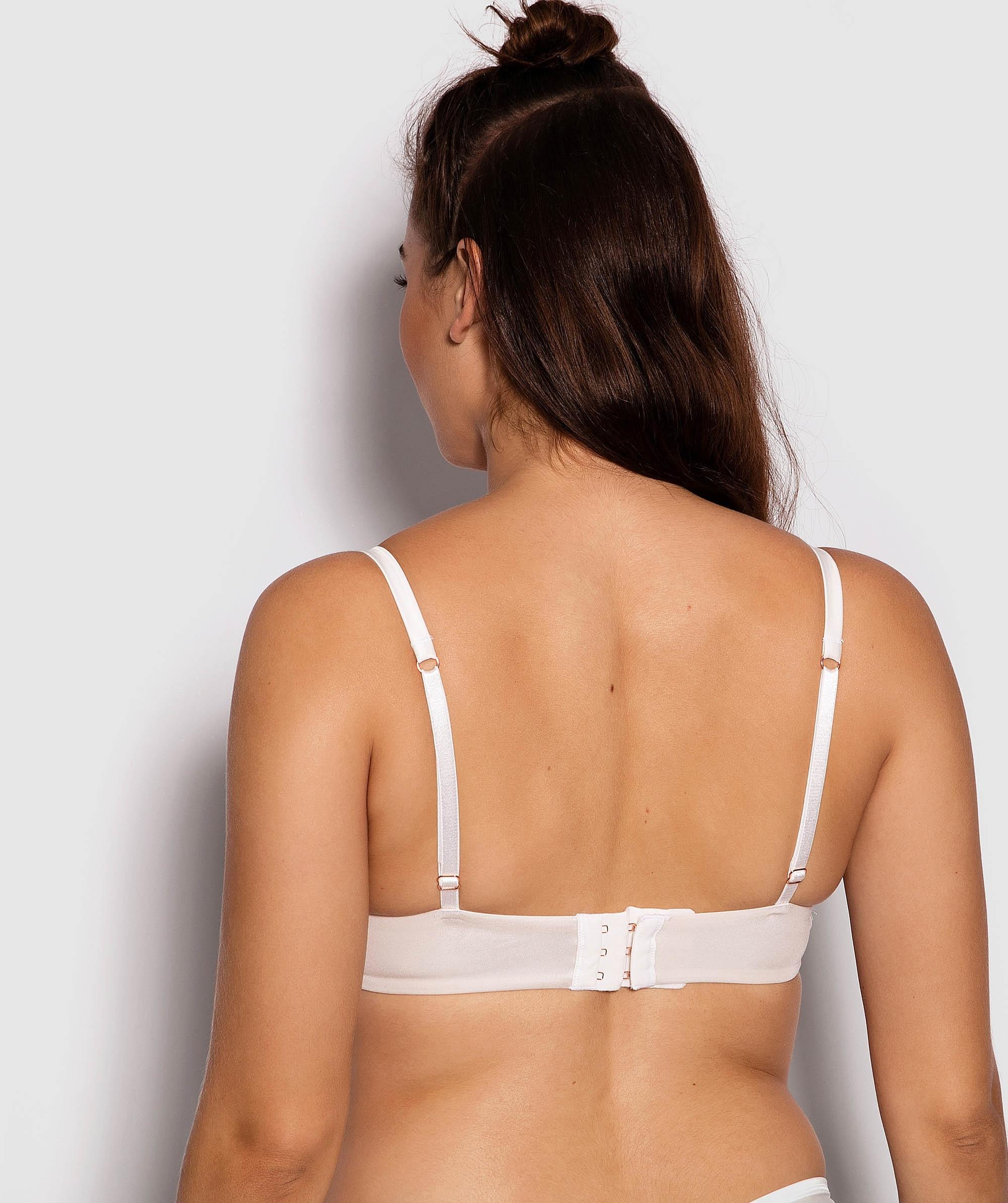 Fashion X Comfort Plunge Push Up Bra - Ivory/Nude