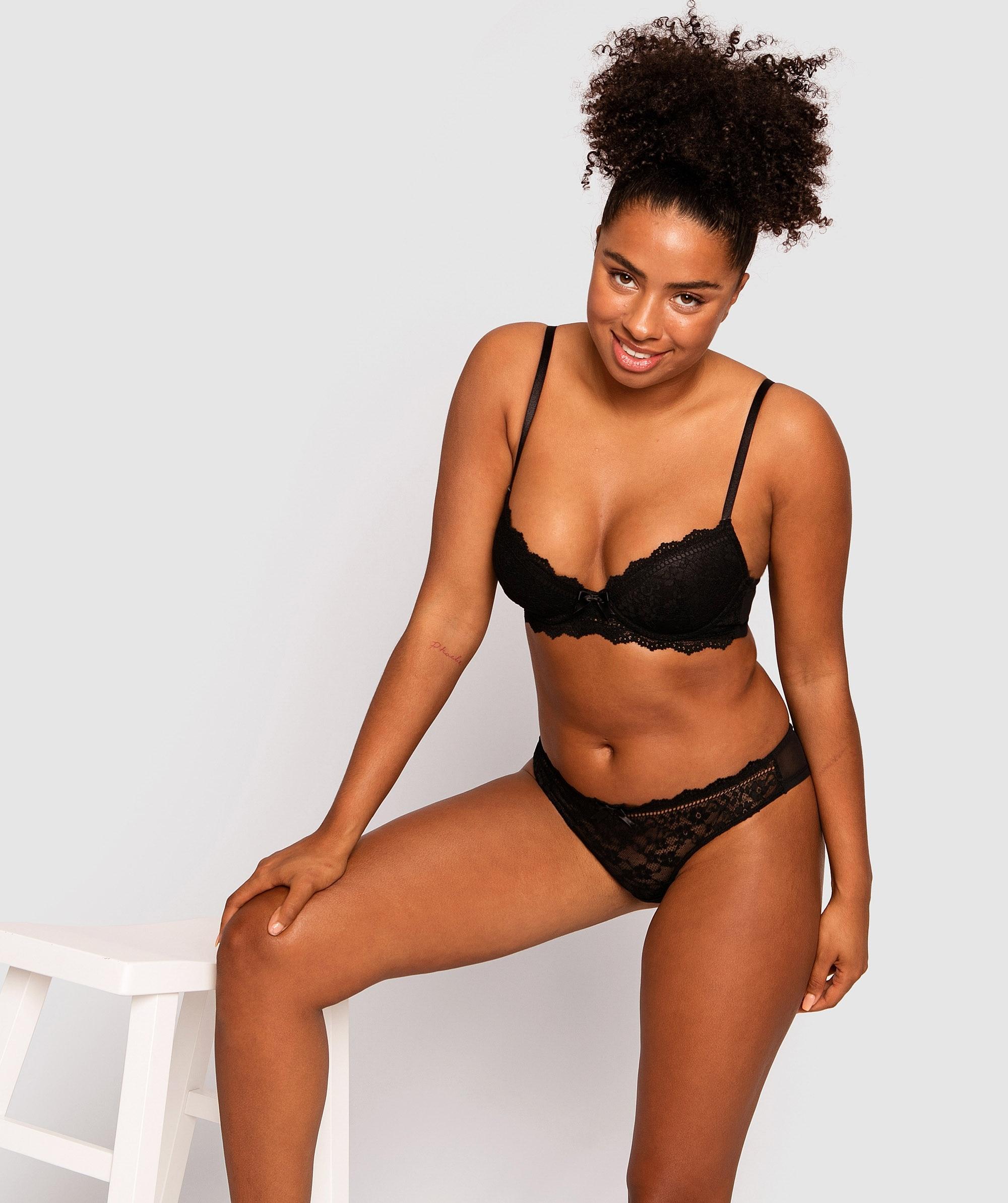 Kayla Push Up Bra - Black