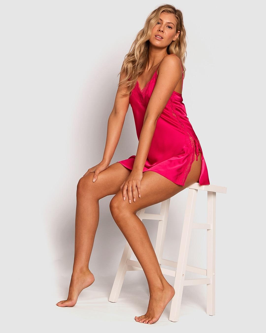 Samantha Slip - Dark Pink