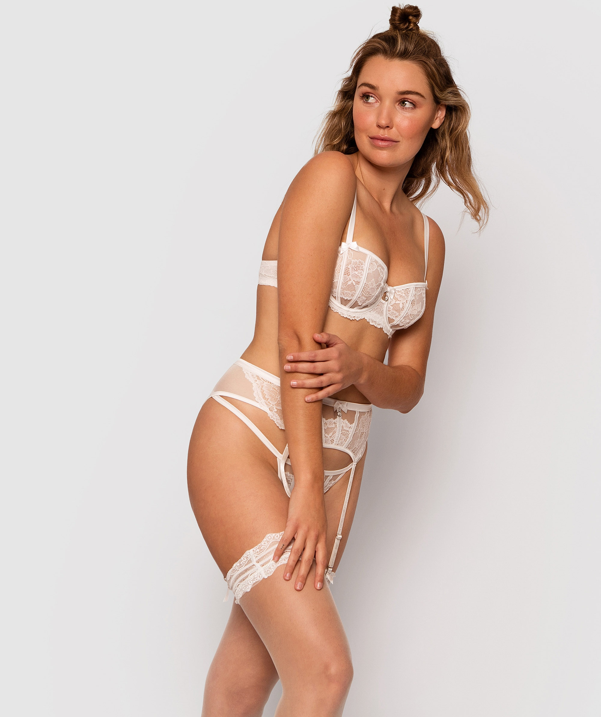 Bethany Underwire Bra - Ivory/Nude