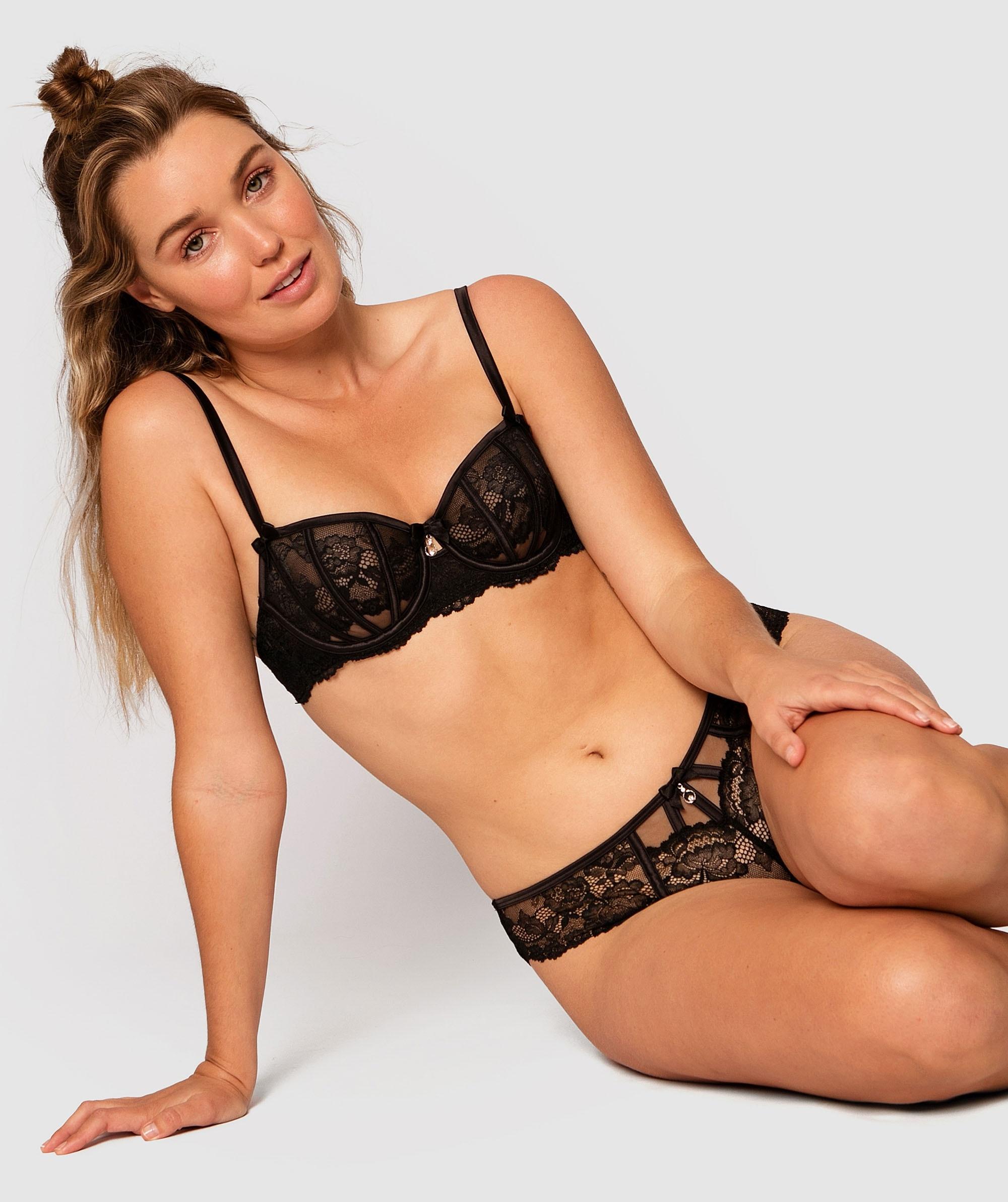 Bethany Underwire Bra - Black/Nude