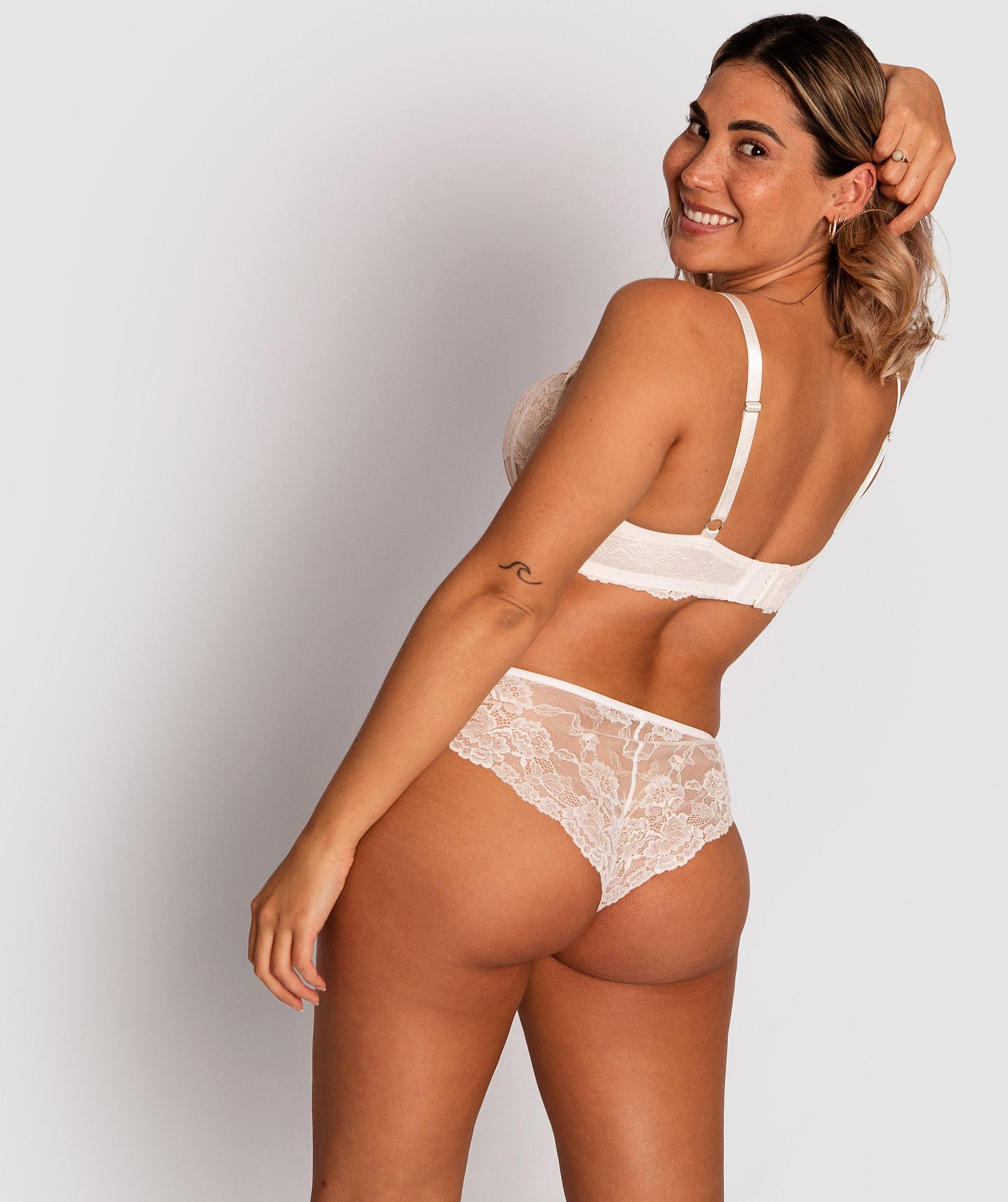 Bethany Brazilian Knicker - Ivory