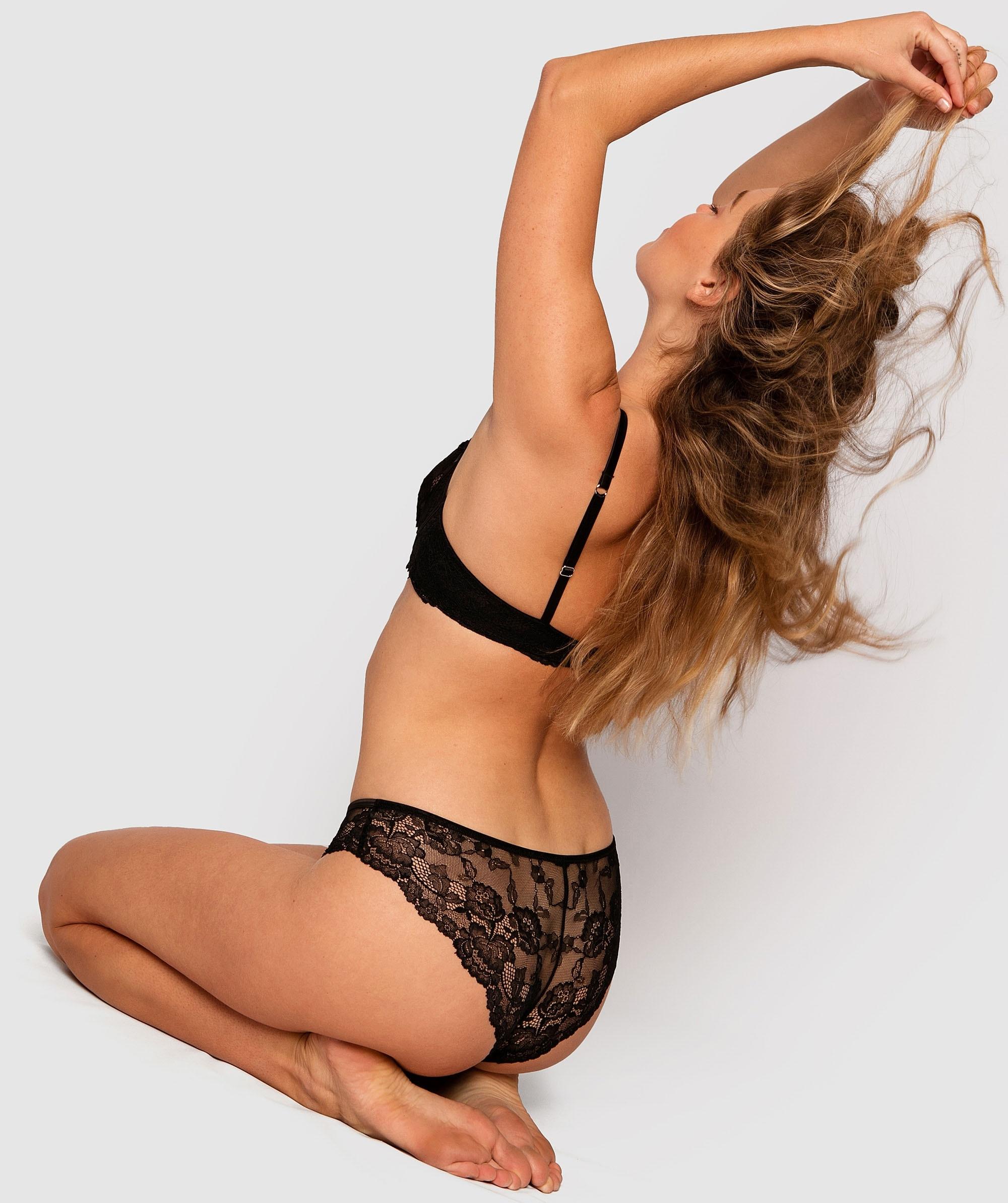 Bethany Brazilian Knicker - Black