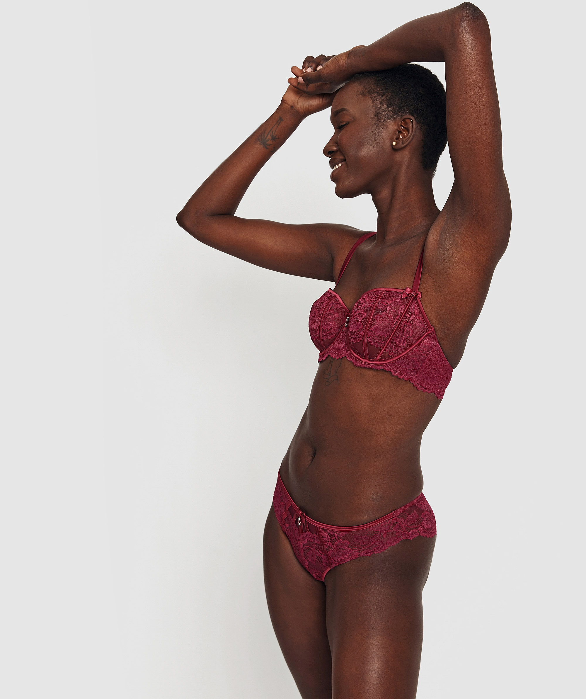 Bethany Brazilian Knicker - Berry