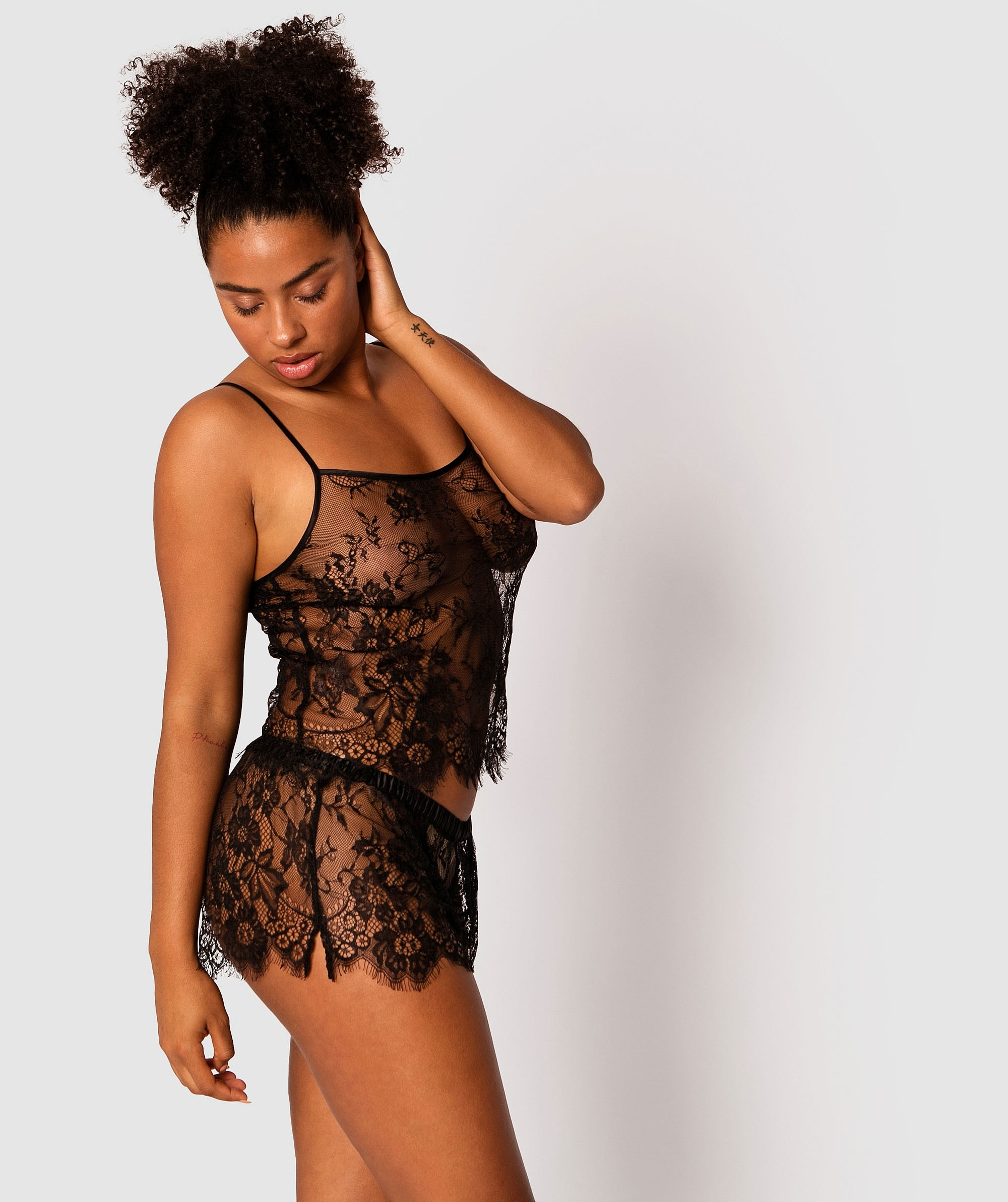 Gabriela French Knicker - Black
