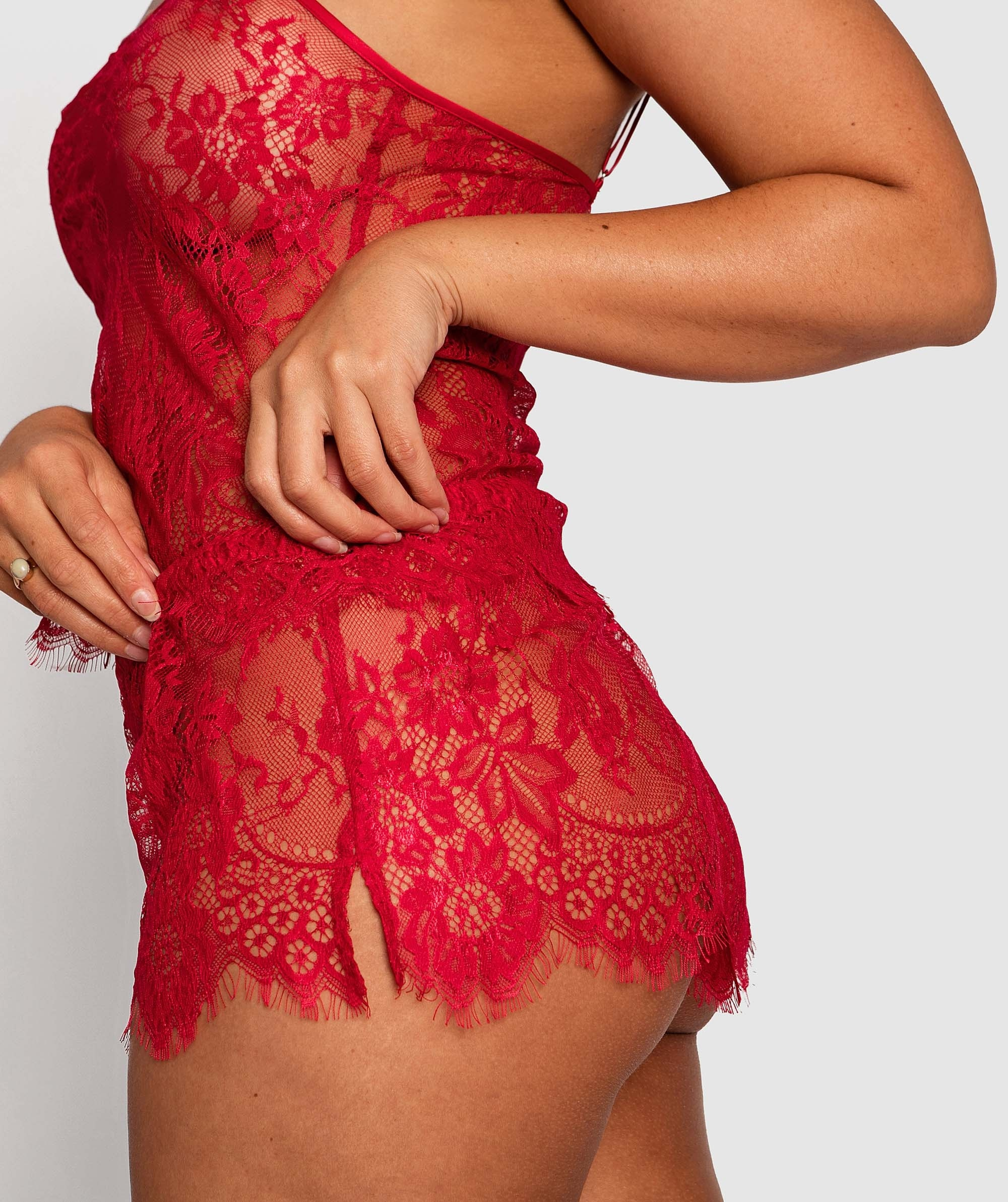 Gabriela French Knicker - Red