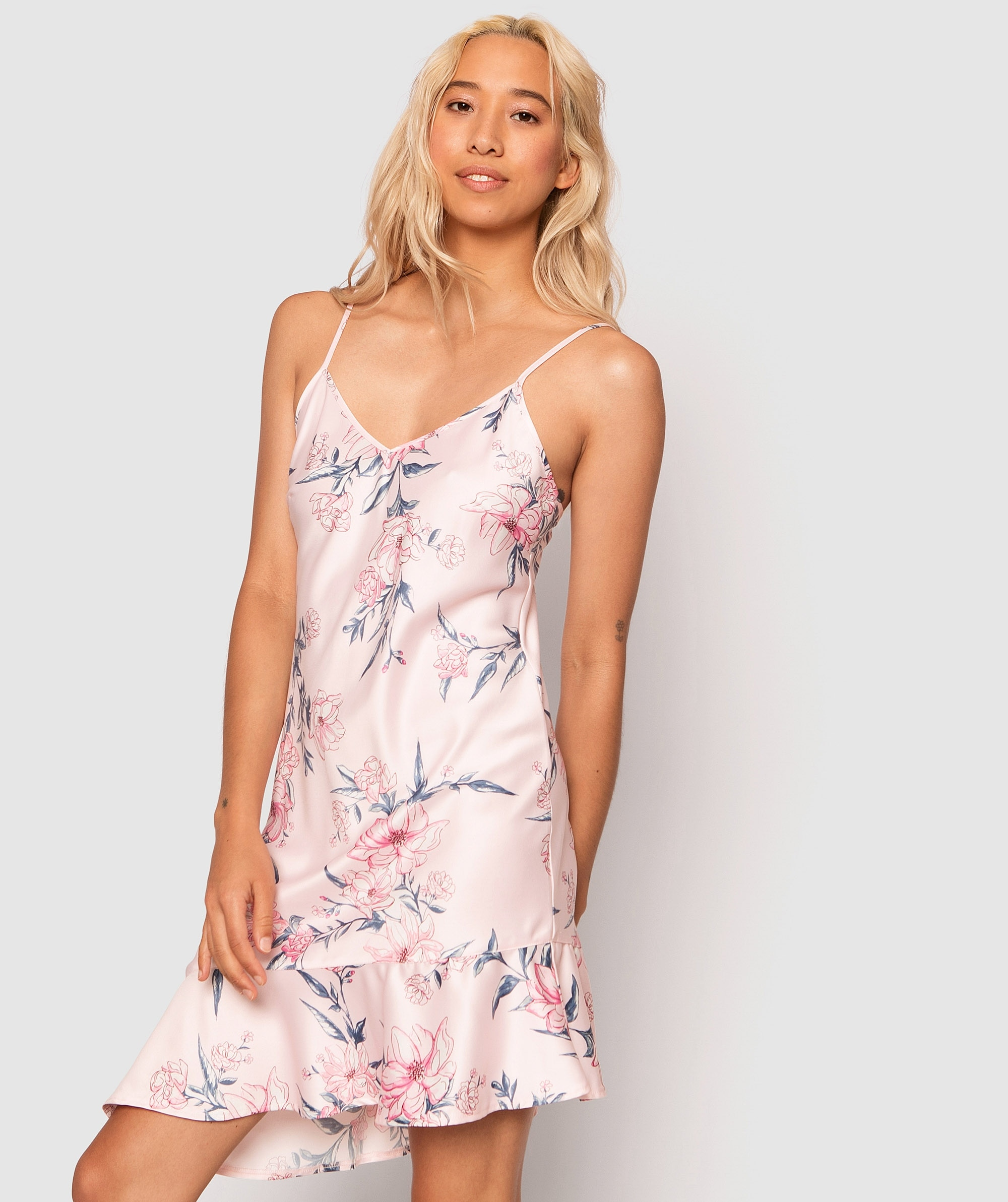 Country Romance Flounce Hem Slip - Floral Print