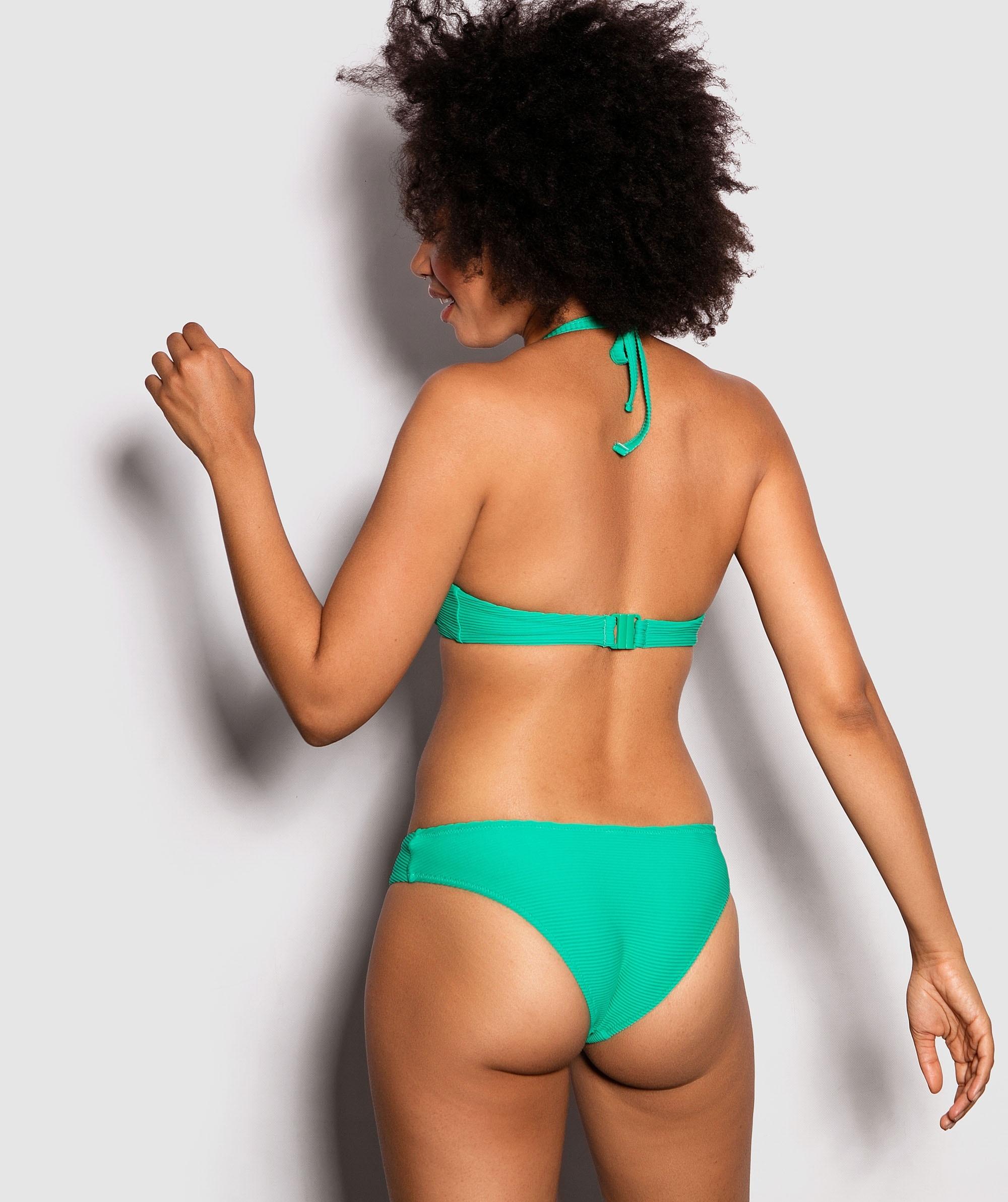 Havana Plain Marla Brazilian Swim Pants - Green
