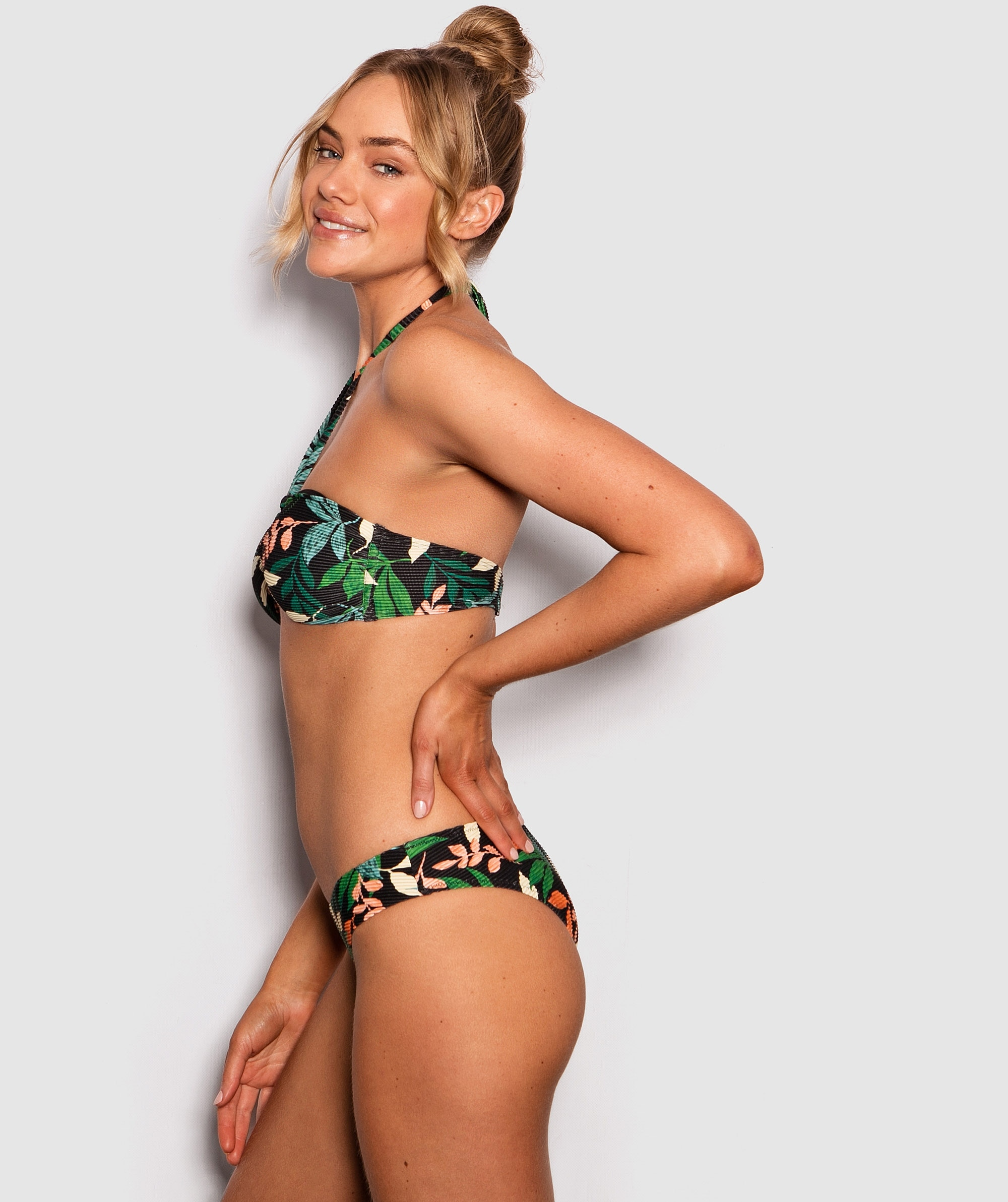 Havana Print Nina Brazilian Swim Pants - Floral Print/Black