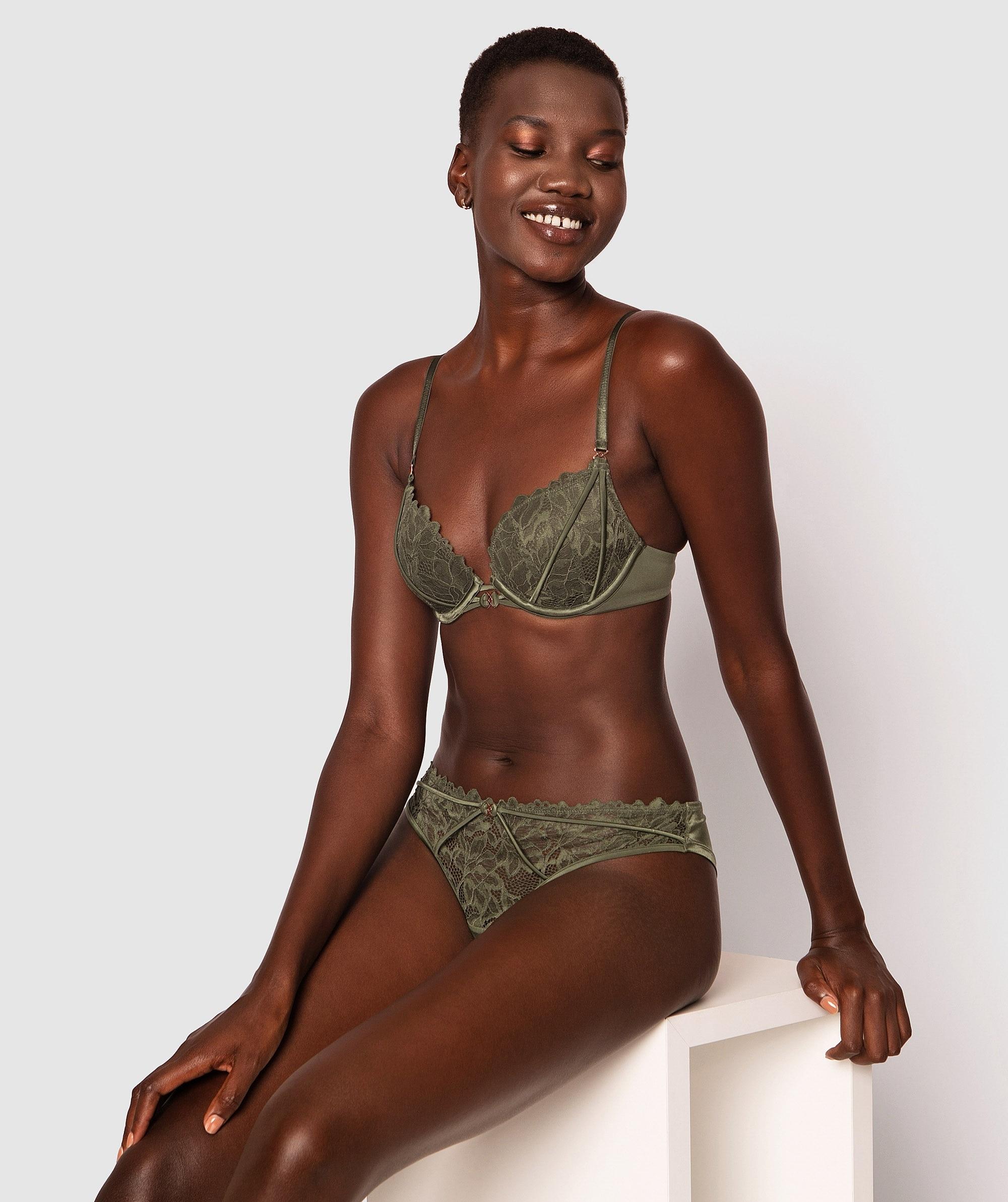 Fleur Brazilian Knicker - Green