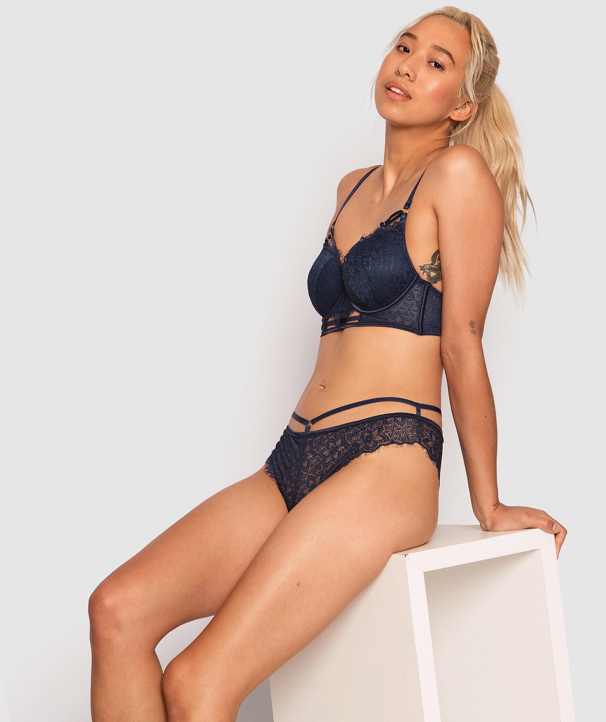 Antonia Plunge Contour Bra - Dark Blue