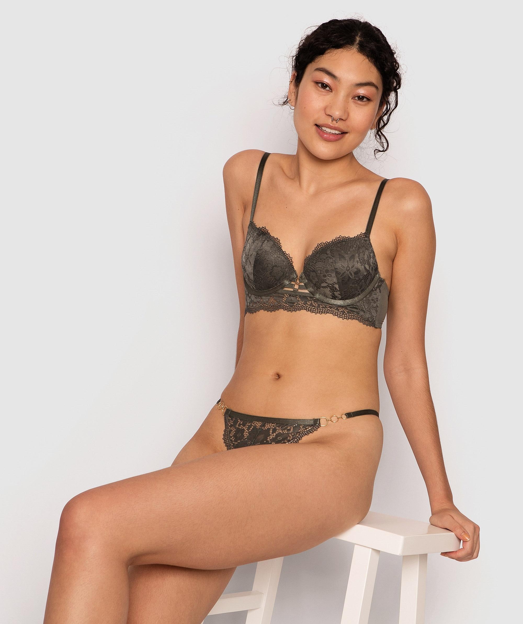 Lillian Mini V Knicker - Khaki