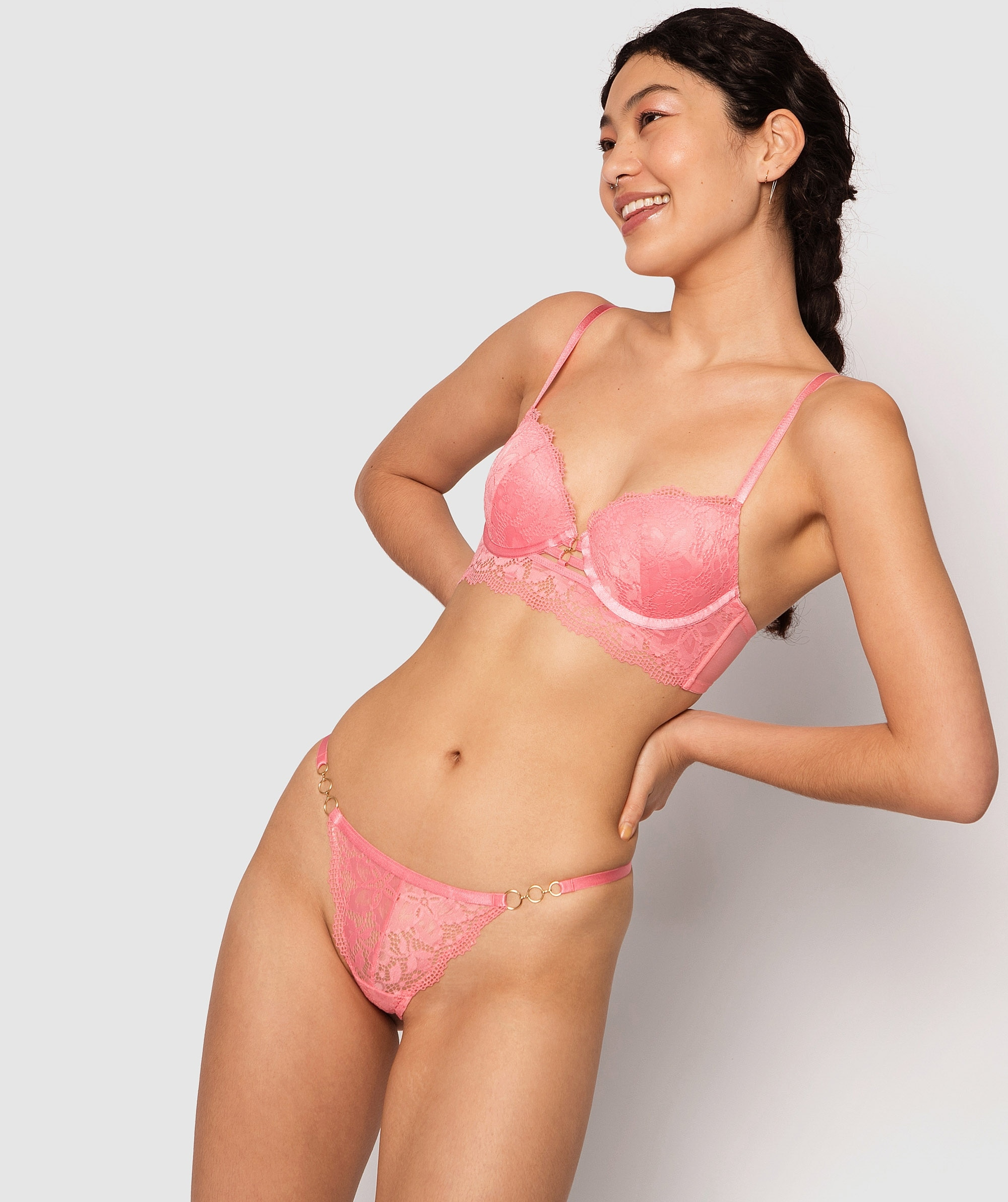 Lillian Mini V Knicker - Pink