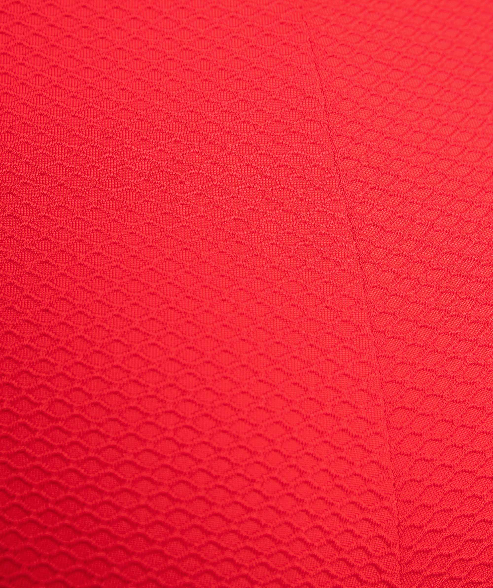 Vamp Bahamas Textured Plunge Swim Top - Red