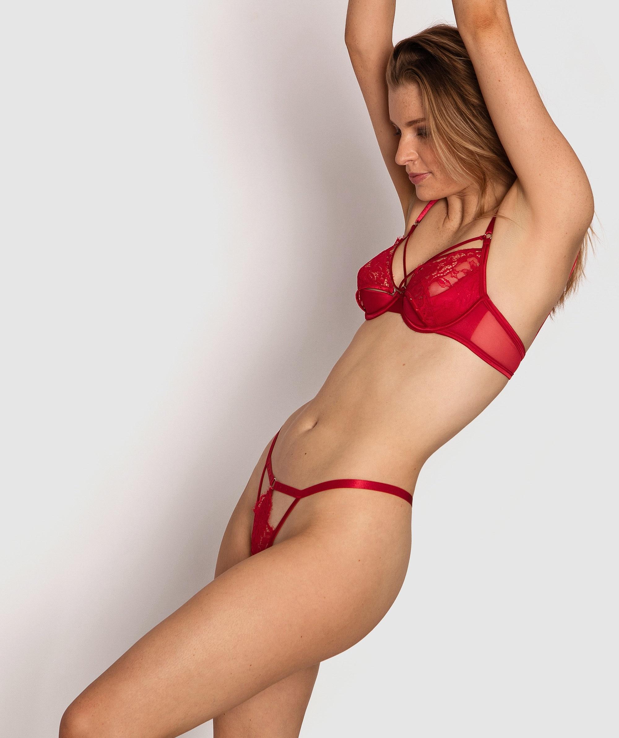 Mesmerize Mini V Knicker - Red
