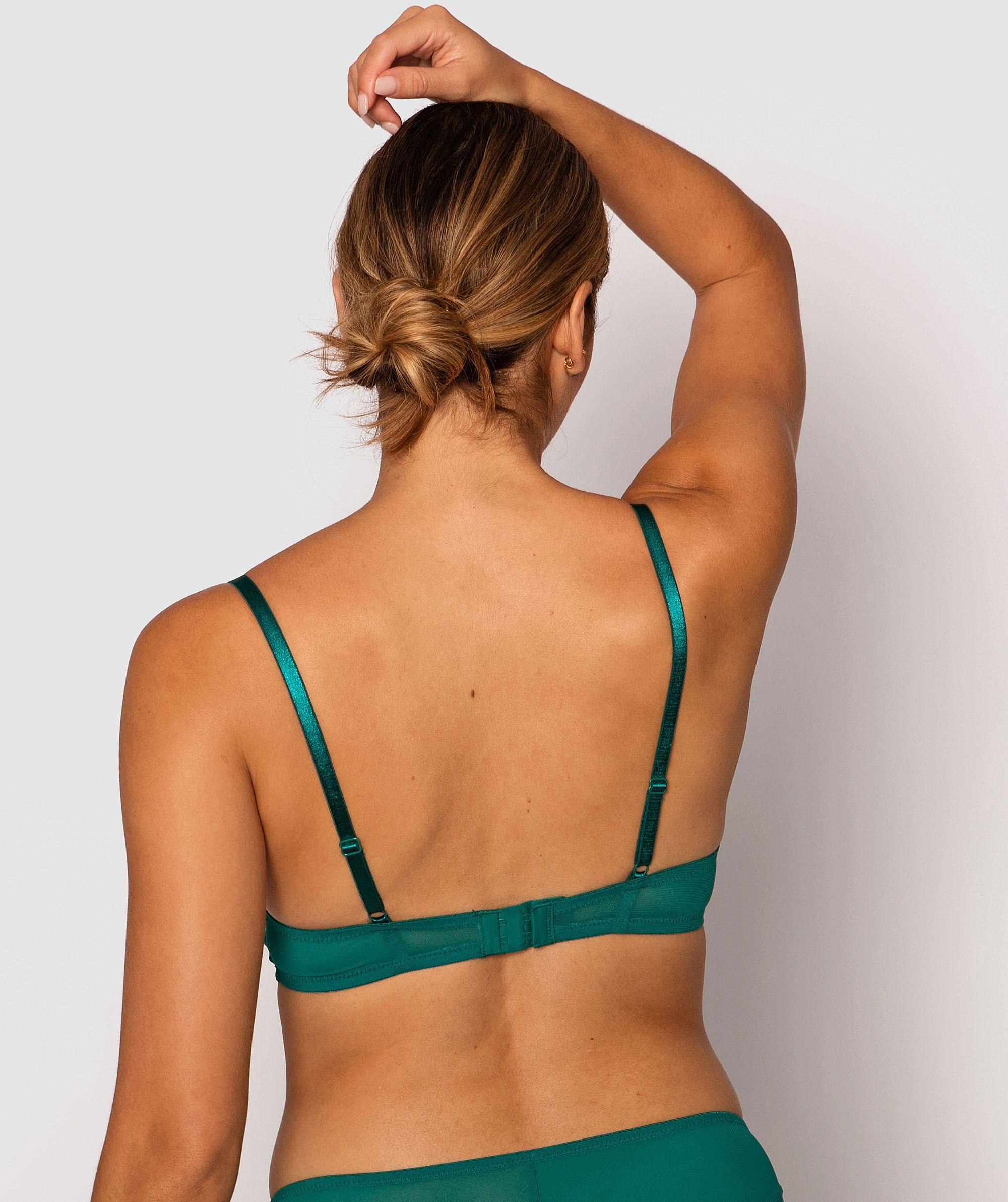 Olivia Plunge Contour Bra - Dark Green