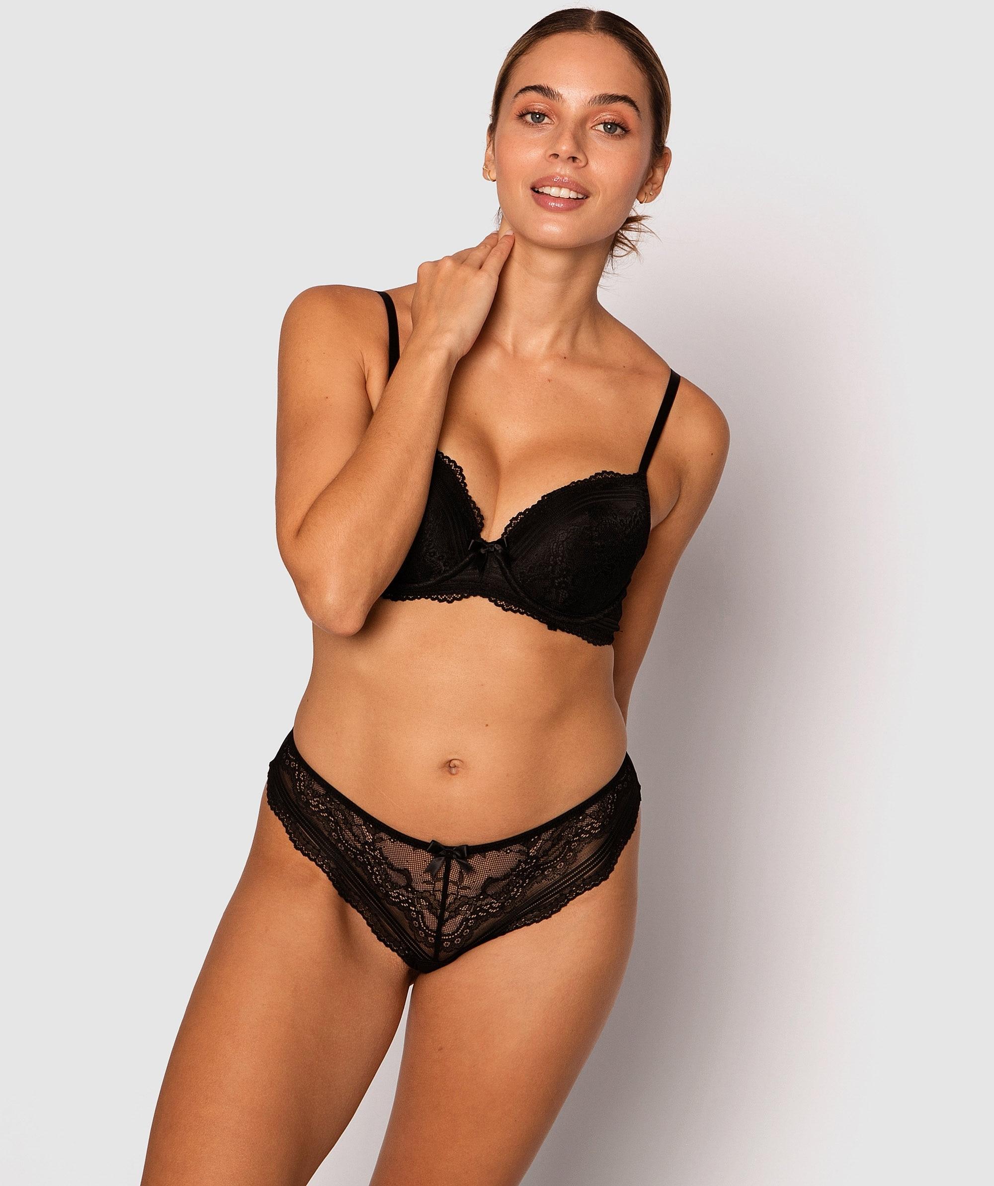 Olivia Brazilian Knicker - Black
