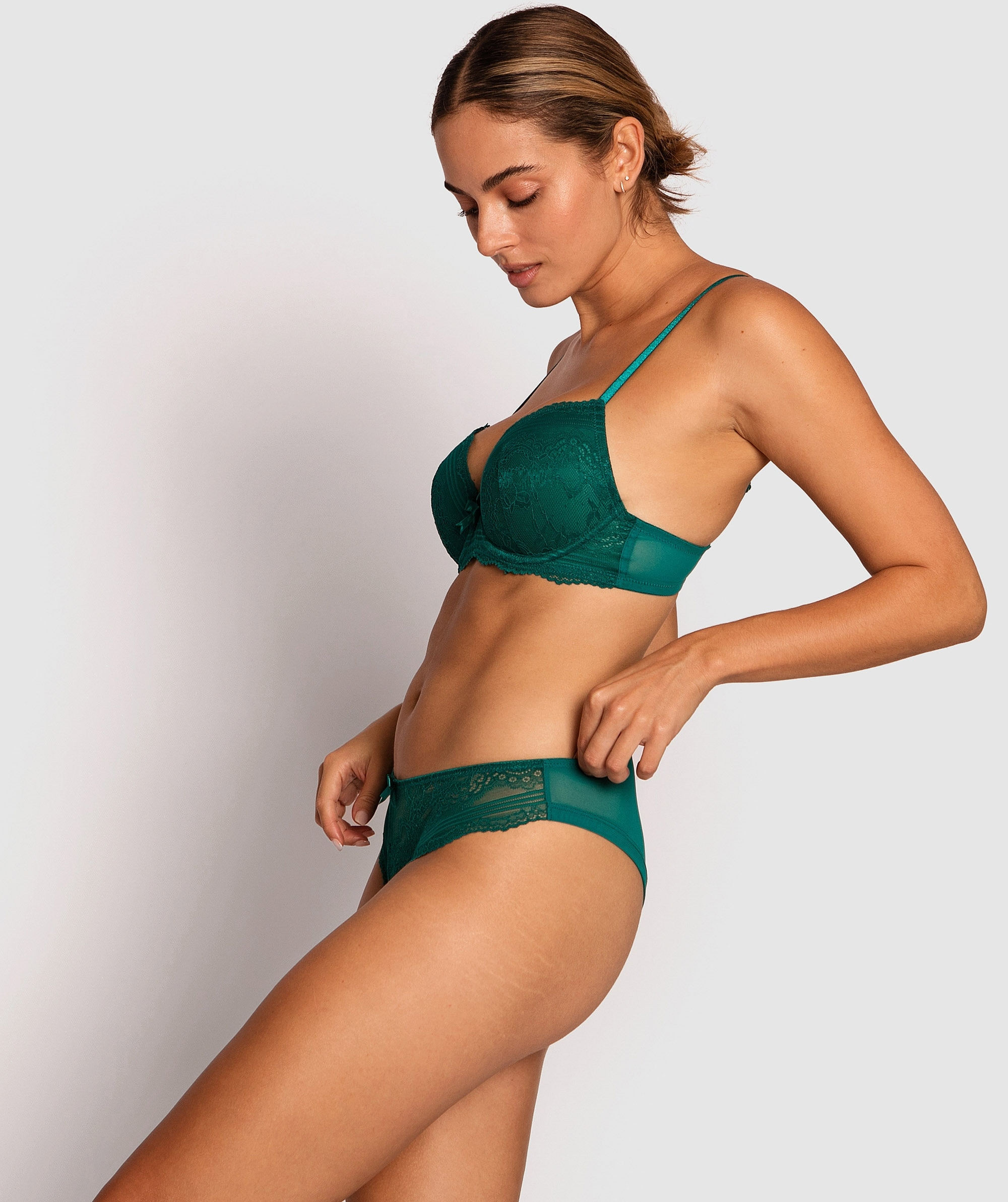 Olivia Brazilian Knicker - Dark Green