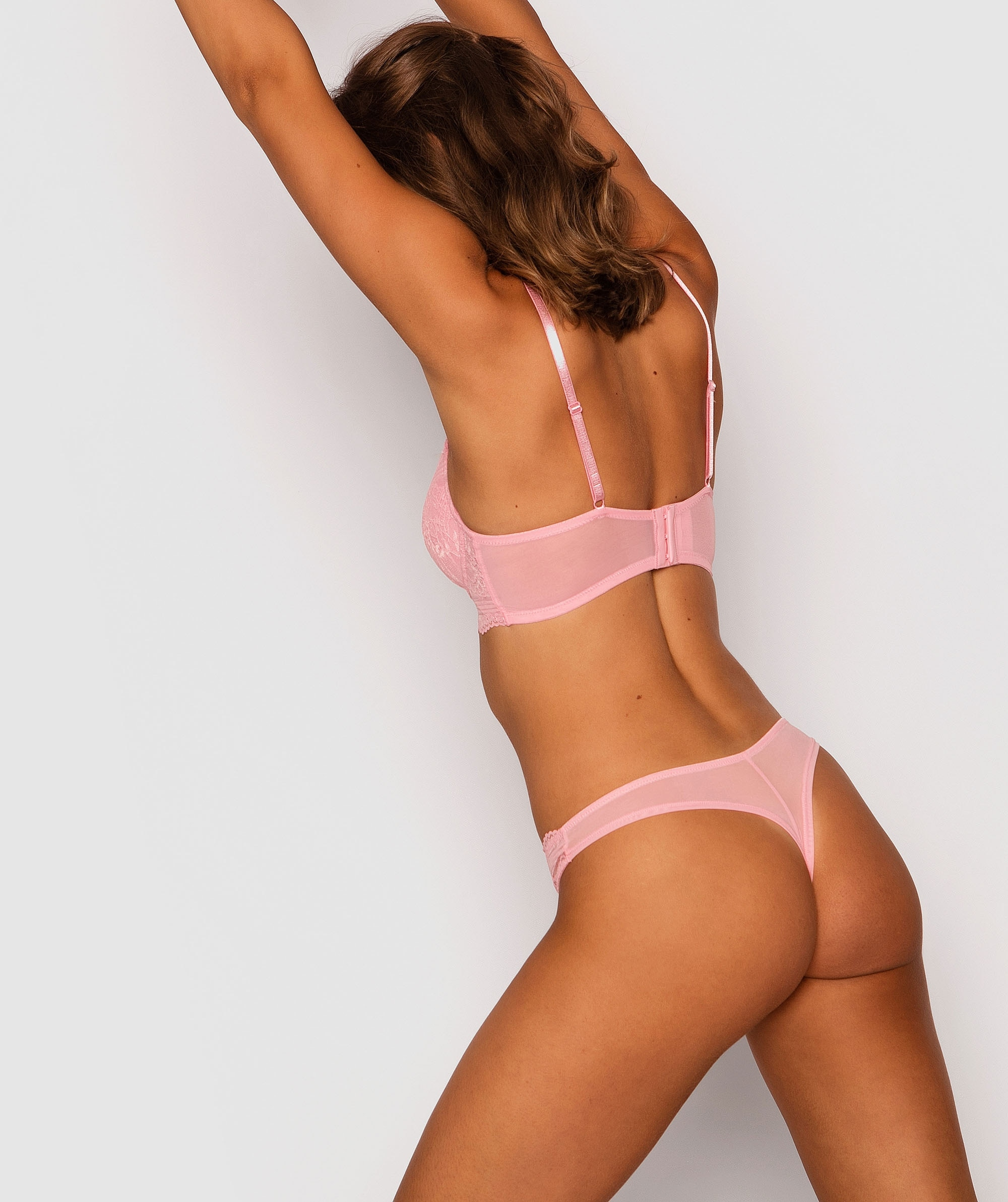 Olivia V String Knicker - Pink