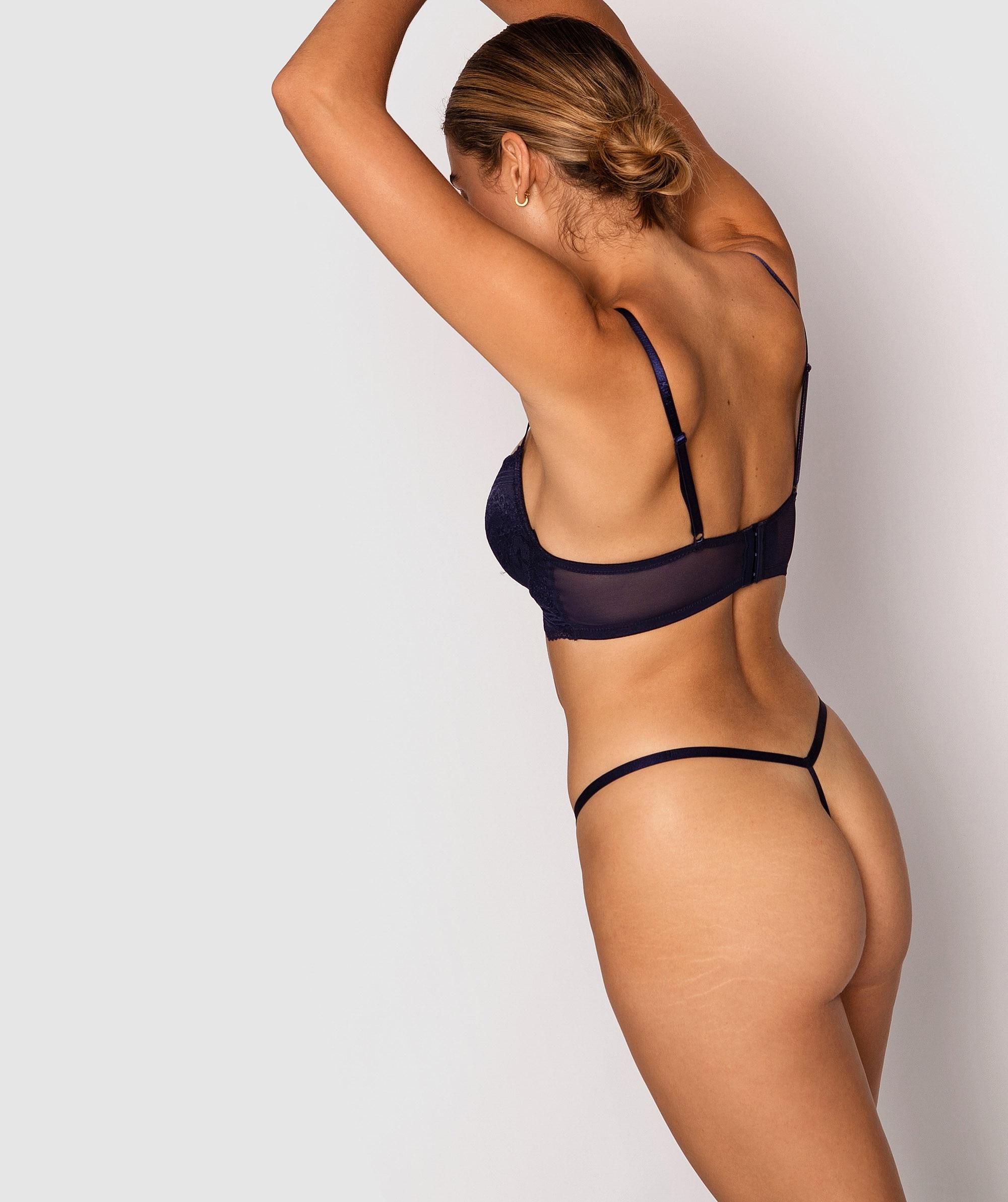 Olivia Mini V Knicker - Navy