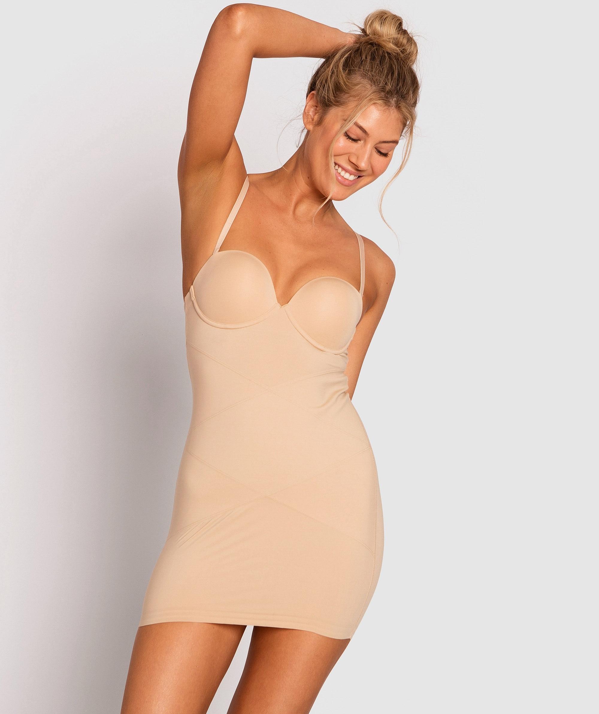 Body Basic Strapless Slip - Nude