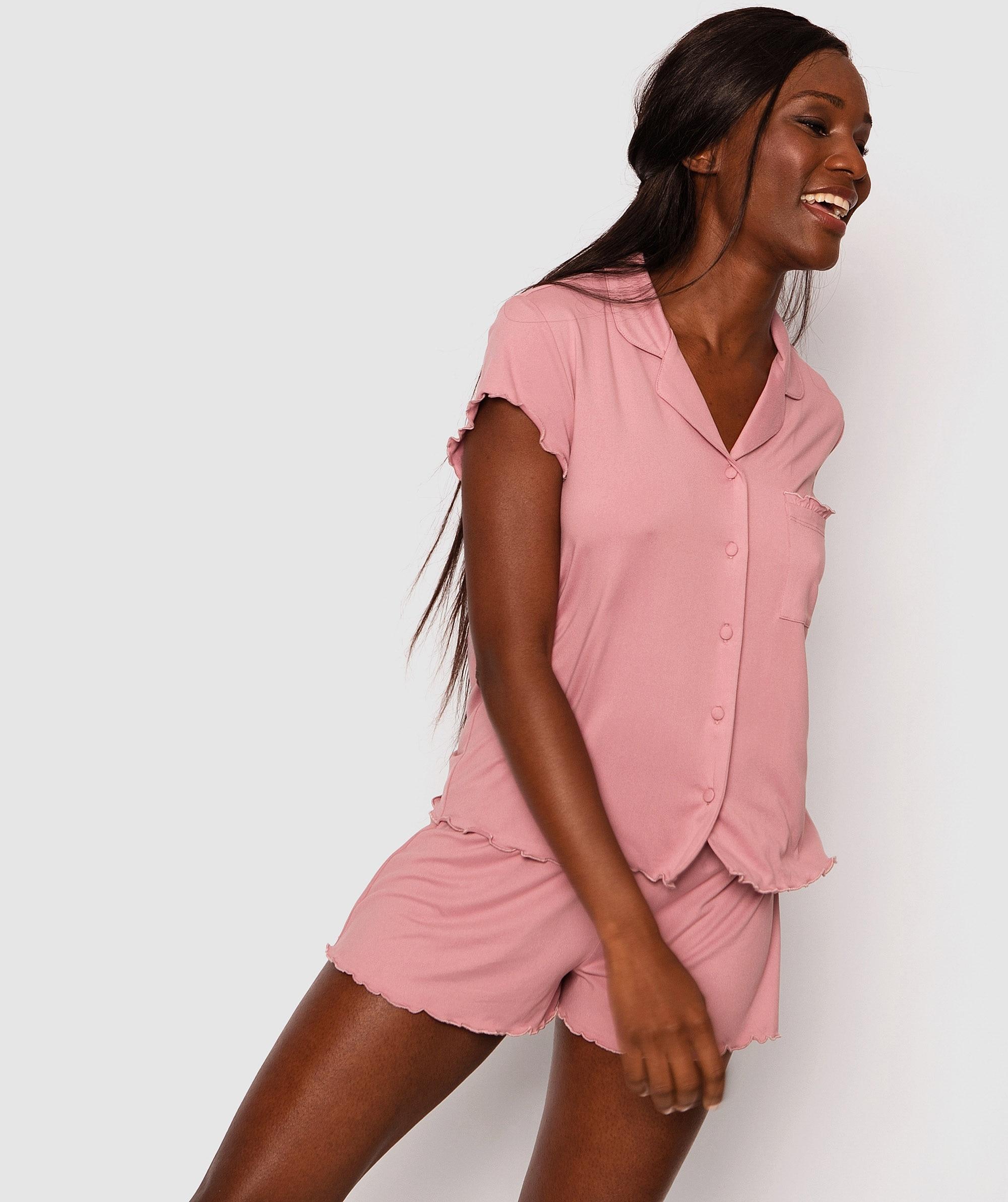 Stevie Short Sleeve Shirt - Light Pink