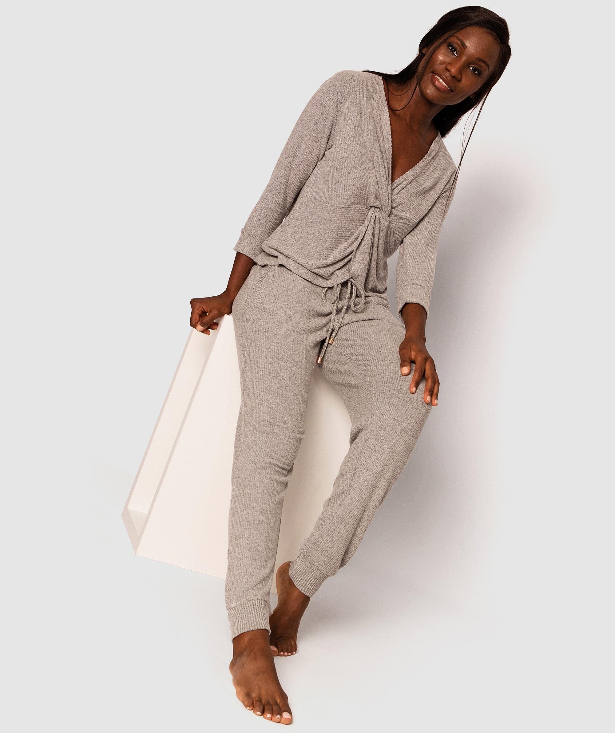 Twyla Long Jogger Pants - Grey